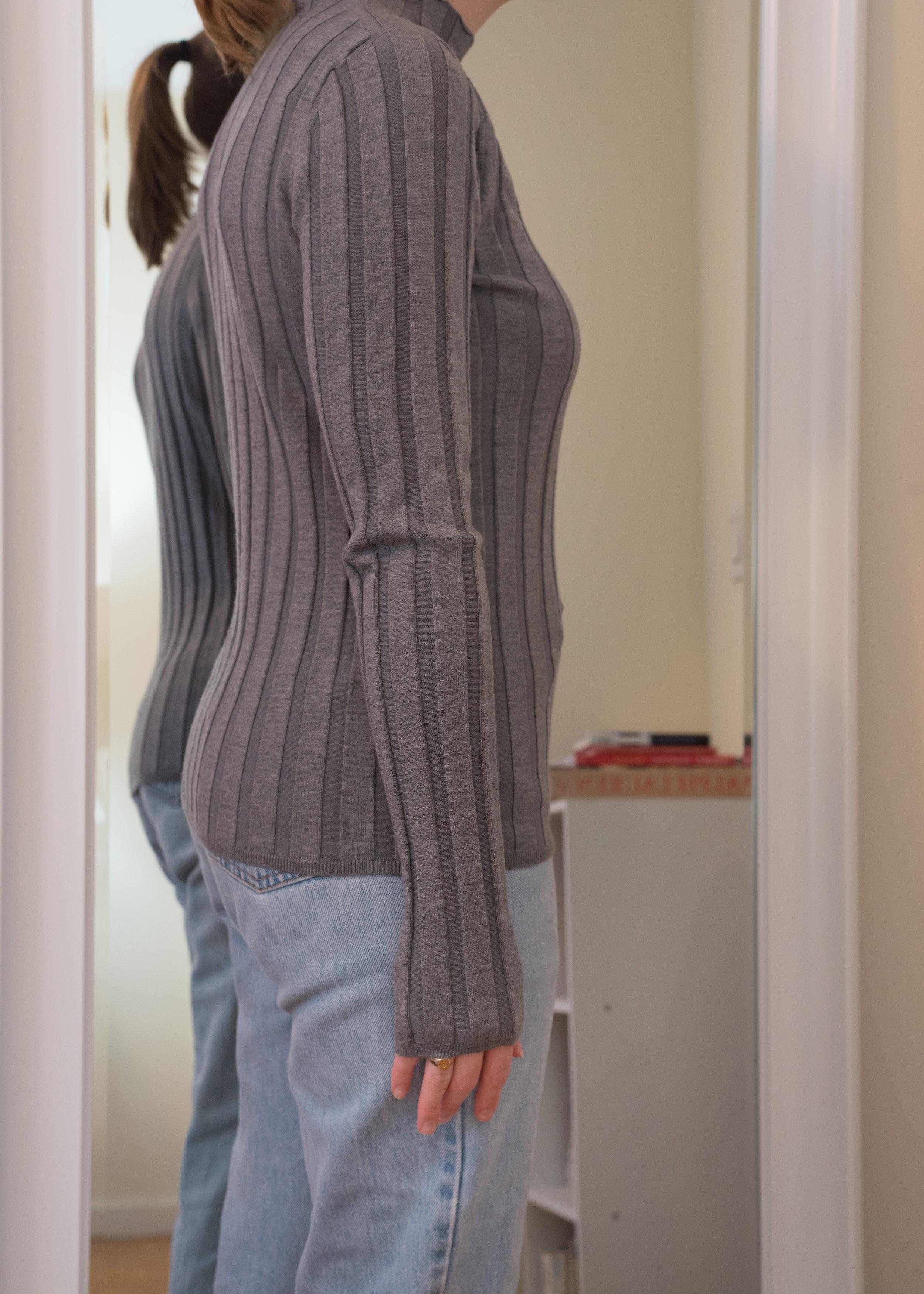 Everlane Luxe Wool Rib Mockneck Sweater - Side View