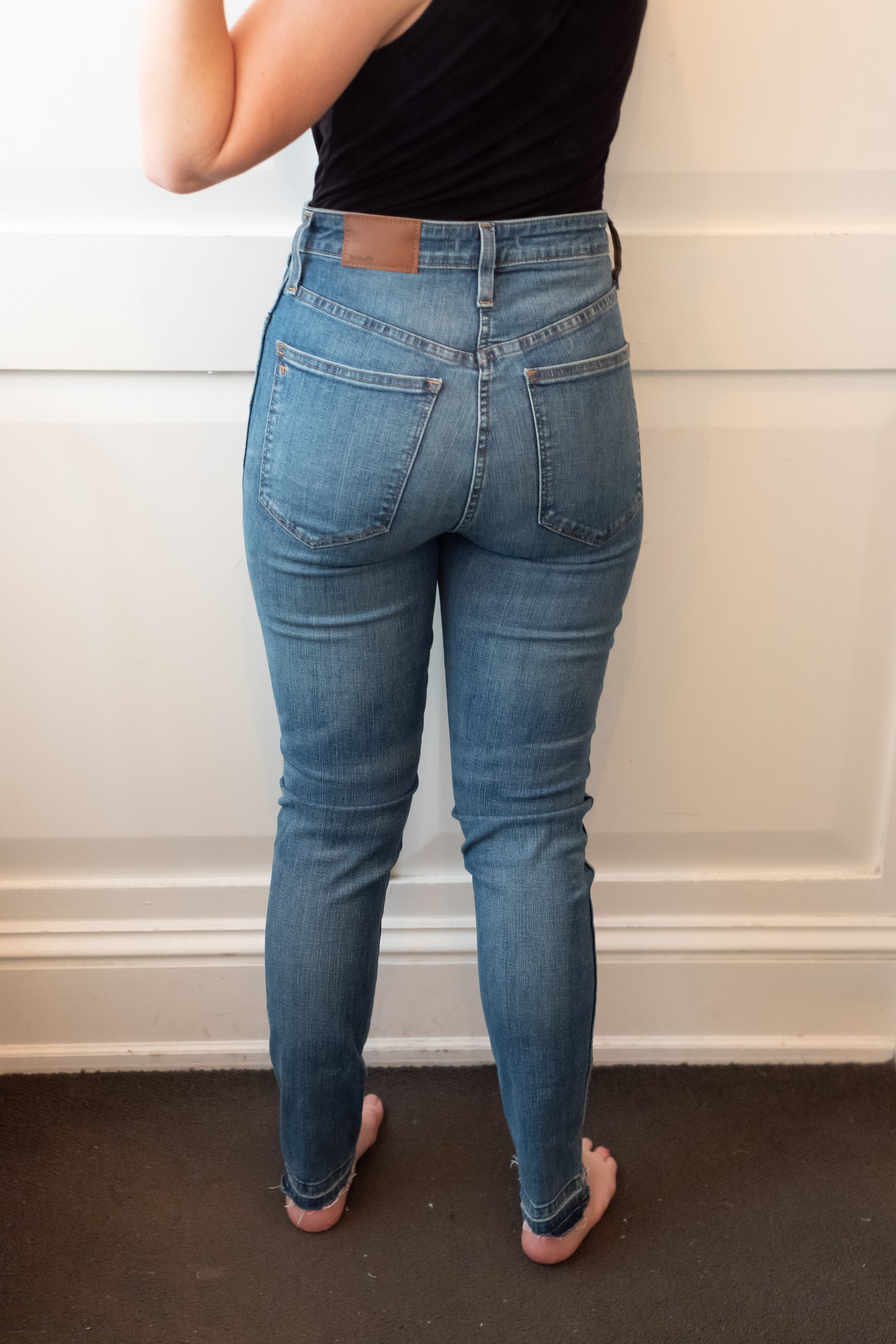 Madewell Curvy High Rise Skinny Jeans - Size 28 - Back View