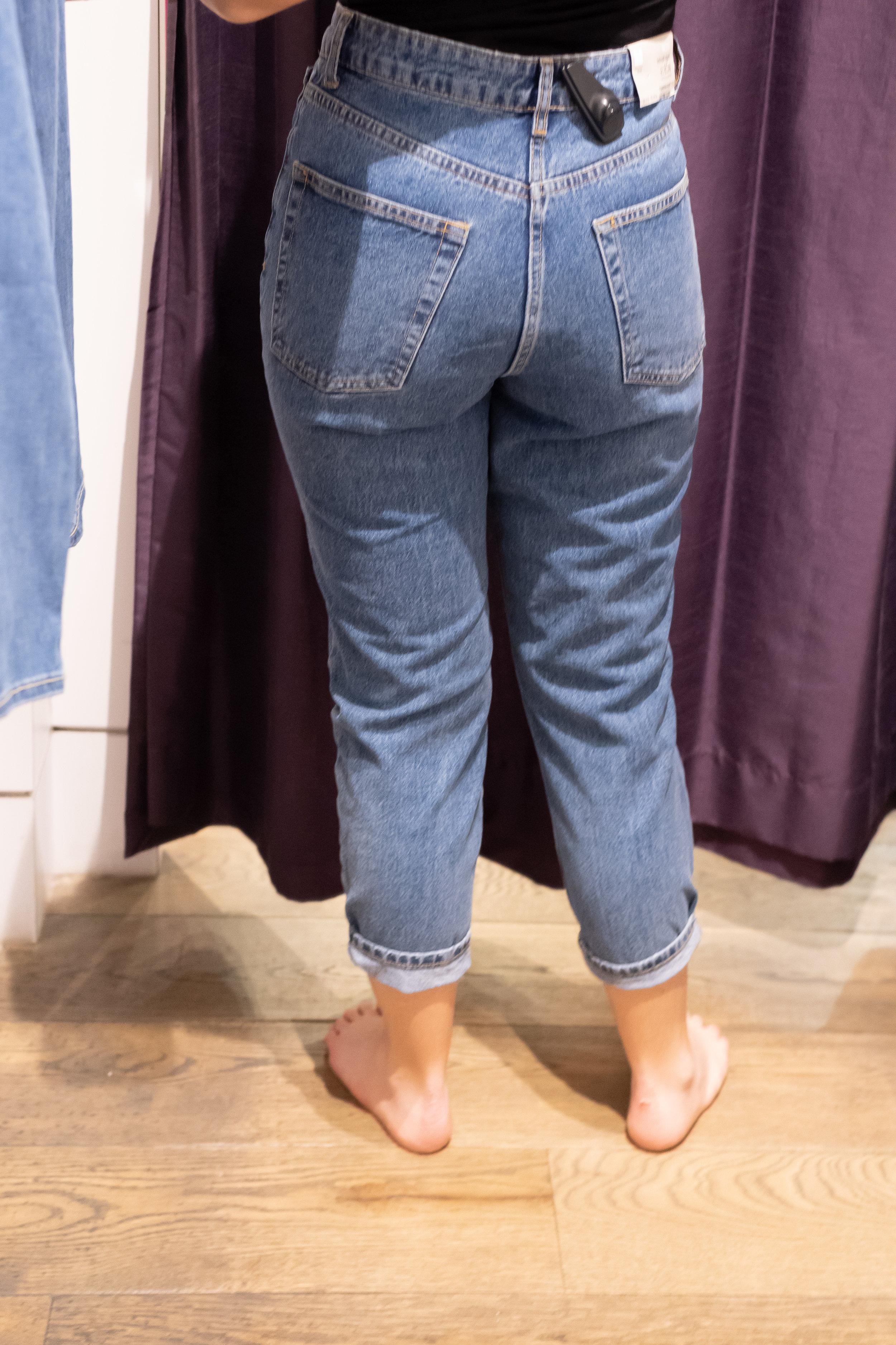 Topshop Petite Mom Jeans - Size 28 Petite - Back View