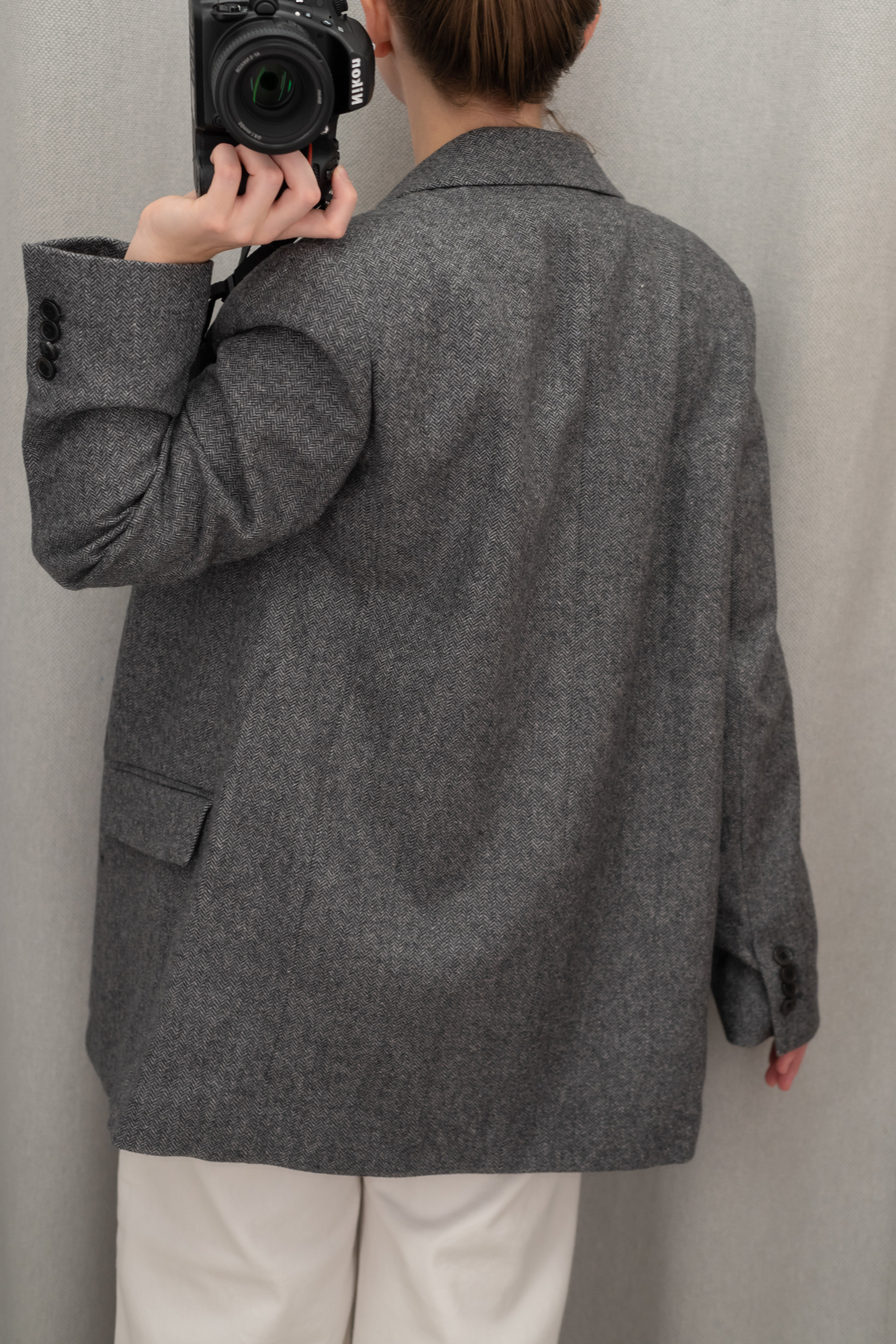 Everlane The Oversized Blazer - Size 4 - Back View
