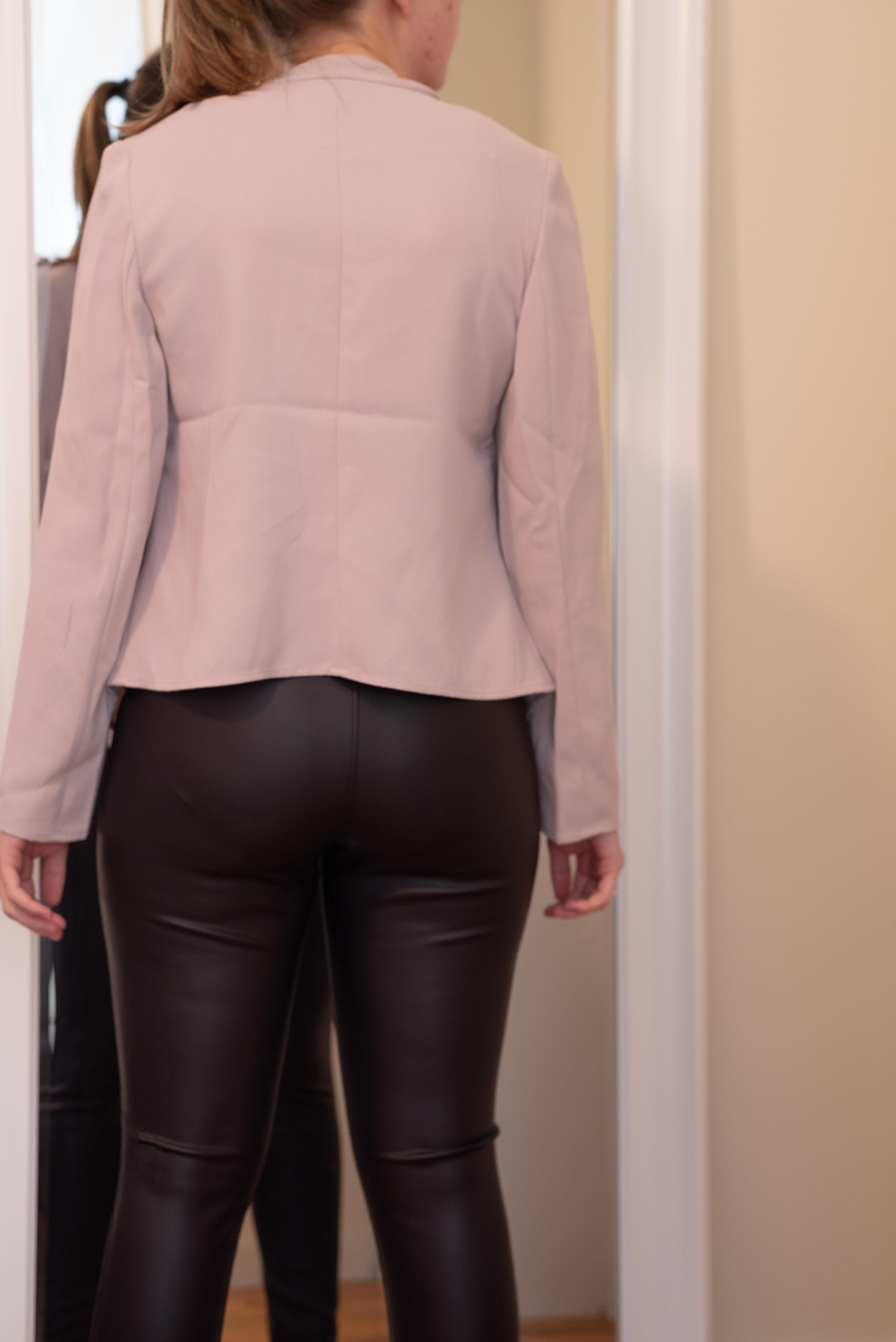 Express Petite Drape Open Front Jacket - Size S