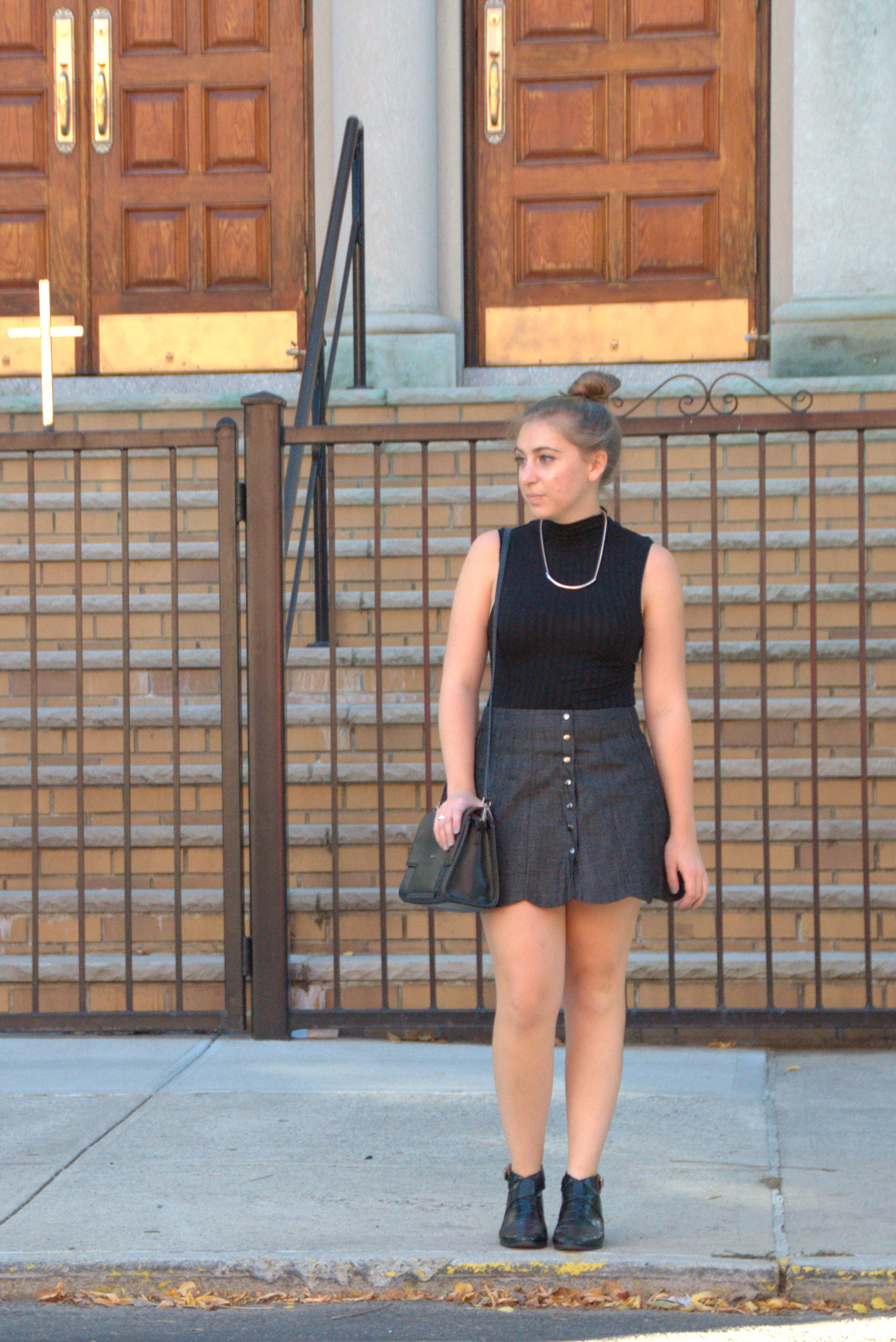 H&M Tank Top & Reformation Mini Skirt