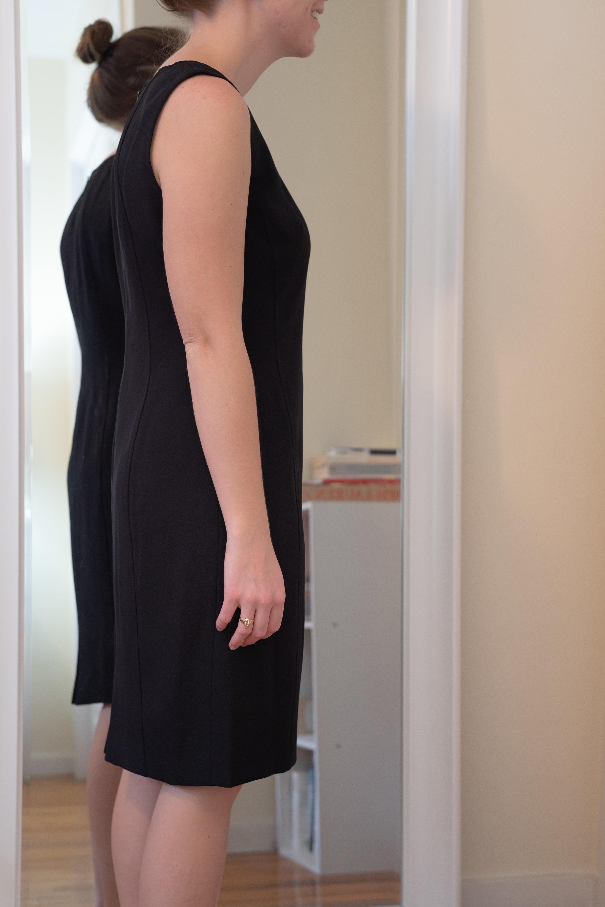 Kasper Petite V-Neck Sheath Dress - Size 4 Petite