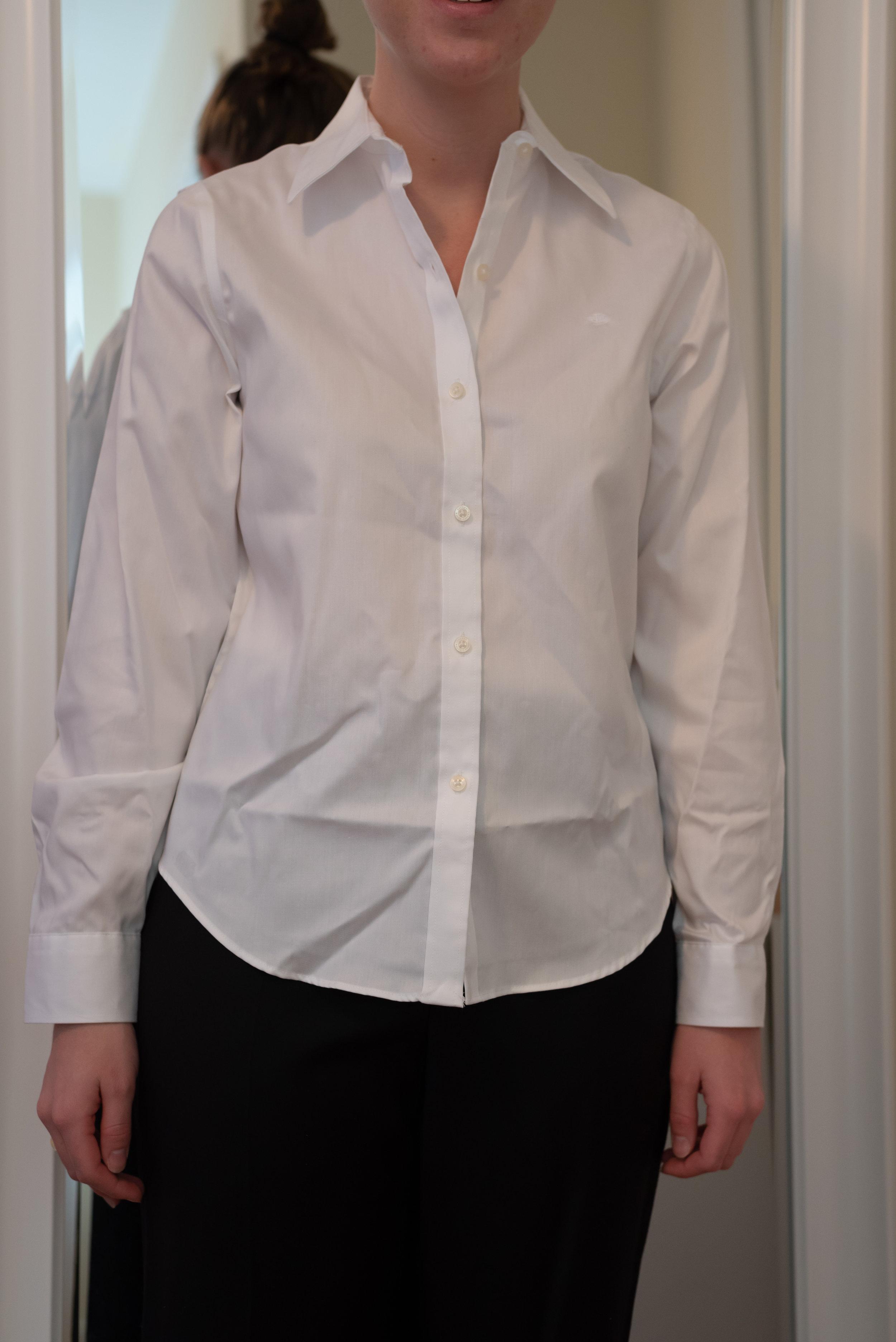 Ralph Lauren Cotton Button-Down Shirt - Size S Petite