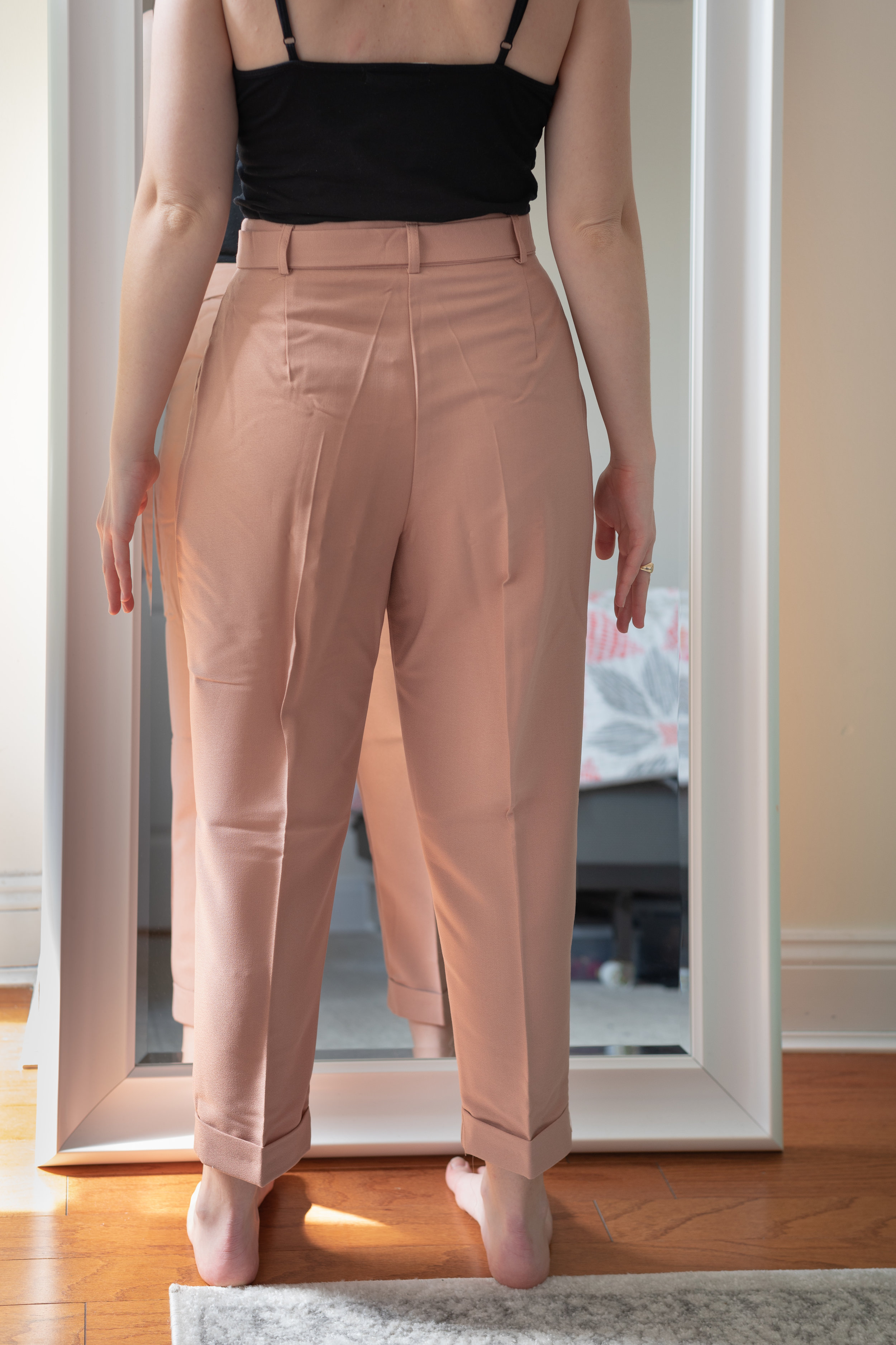 ASOS DESIGN Petite Woven Peg Pants with Obi Tie - Size 6 Petite