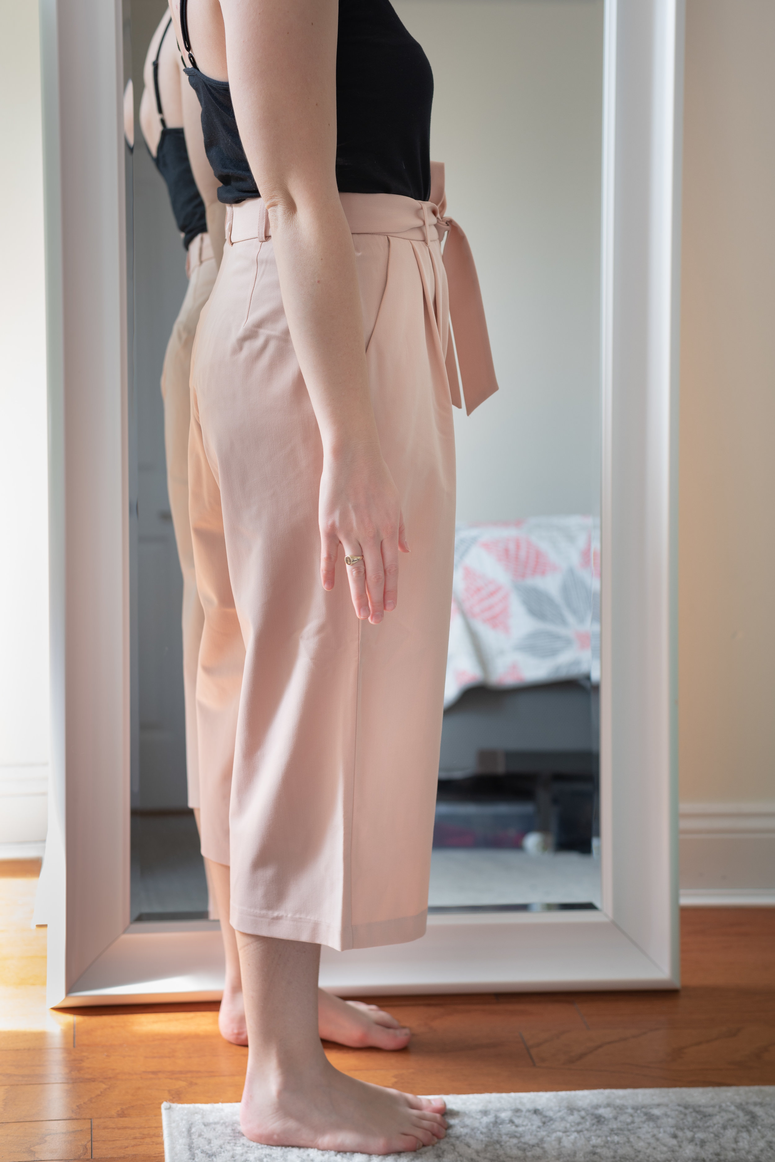 ASOS DESIGN Petite Mix & Match Culotte with Tie Waist - Size 6 Petite