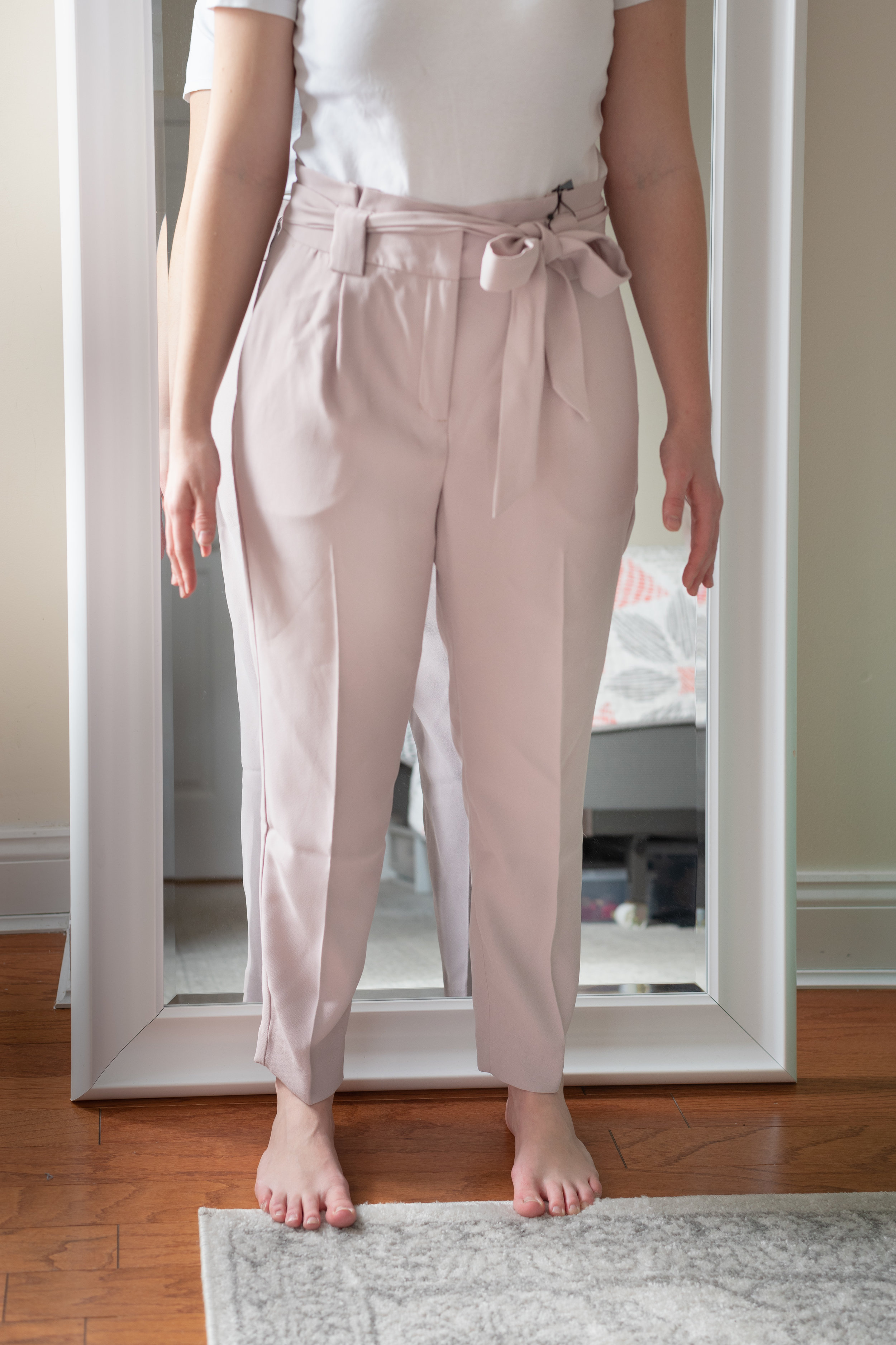 Express High Waisted Sash Waist Ankle Pant - Size 6 Short
