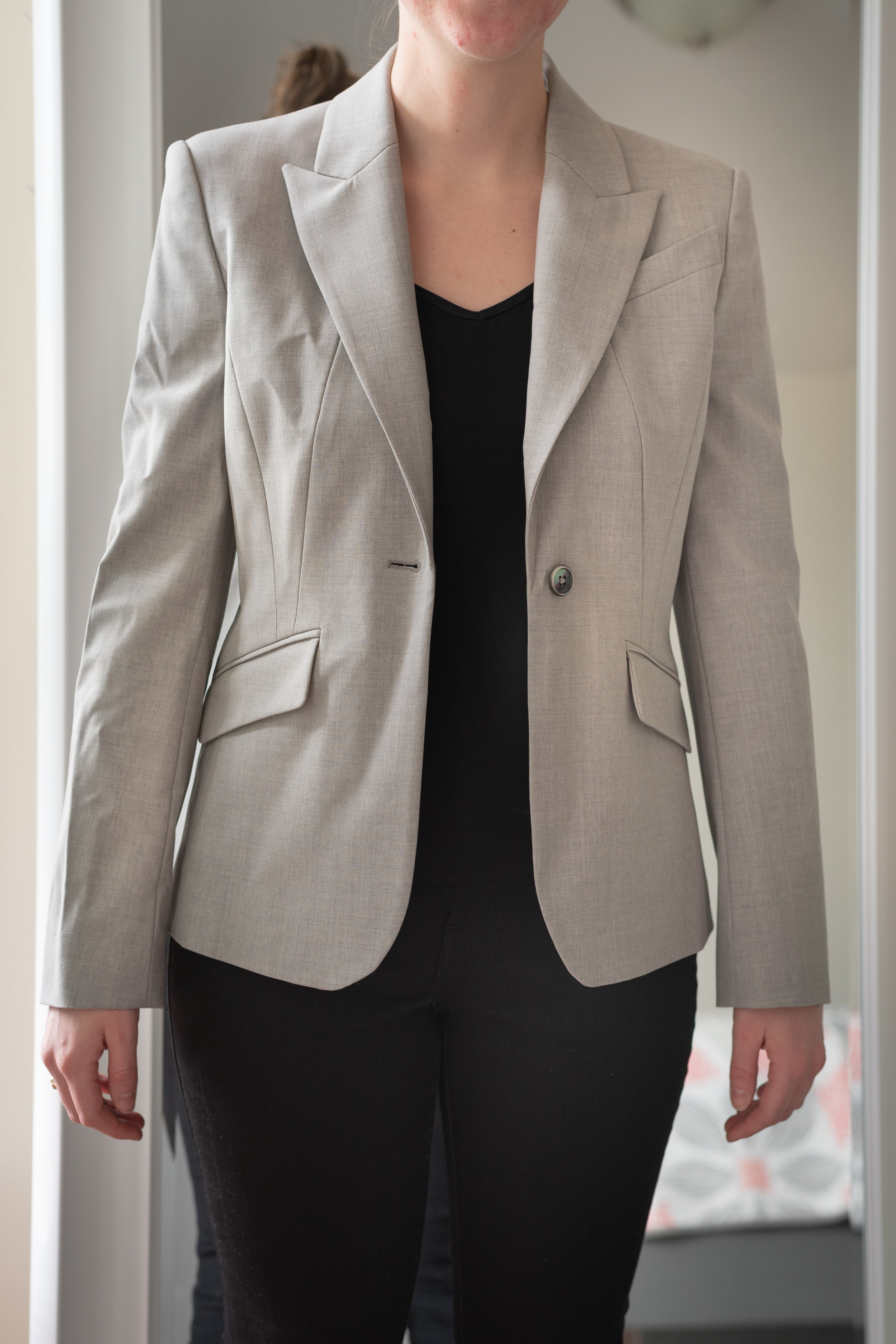 Brooks Brothers Petite Stretch-Wool Peak Lapel Jacket - Size 6 Petite