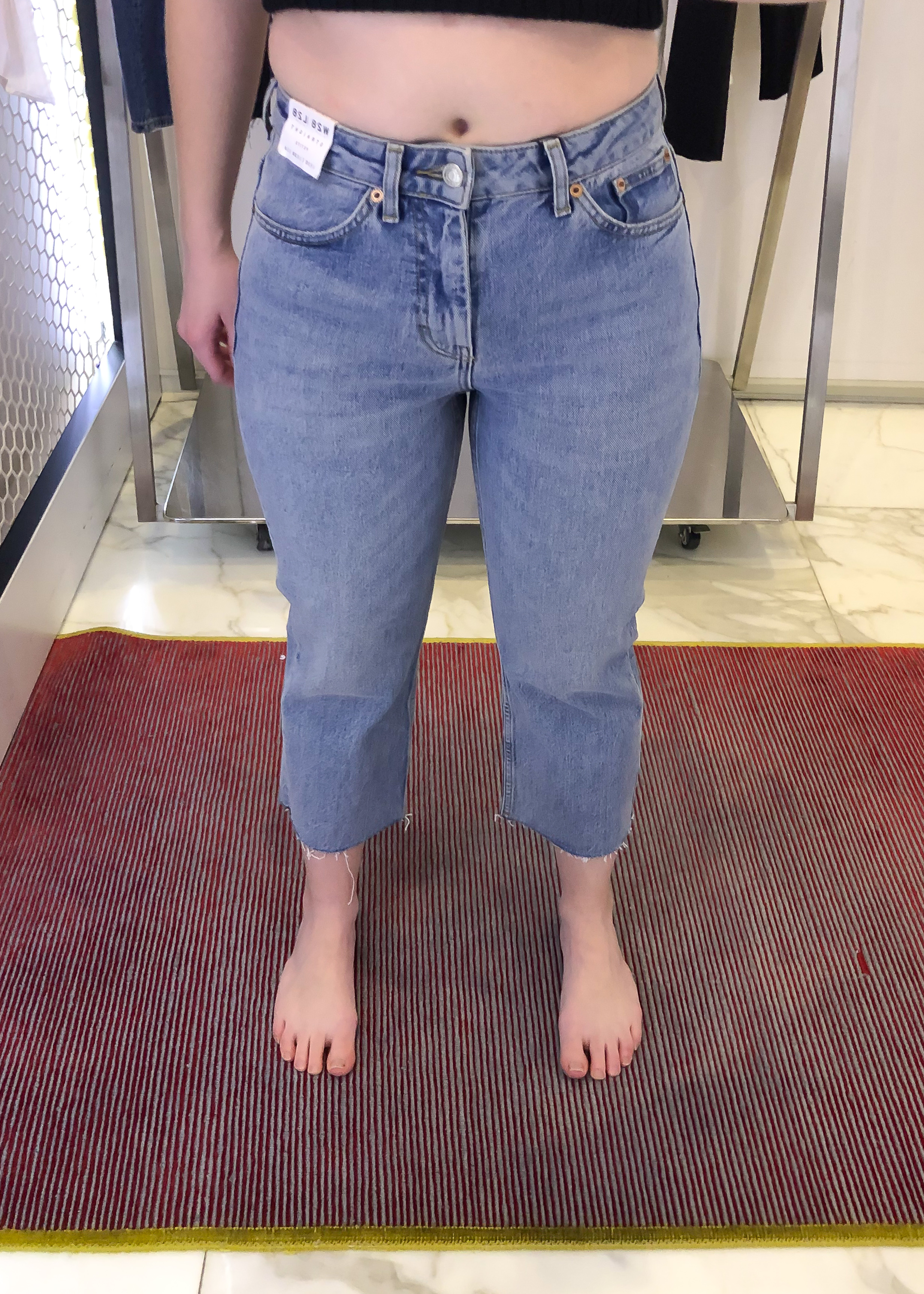 Topshop Straight Jeans - Size 28 x 30