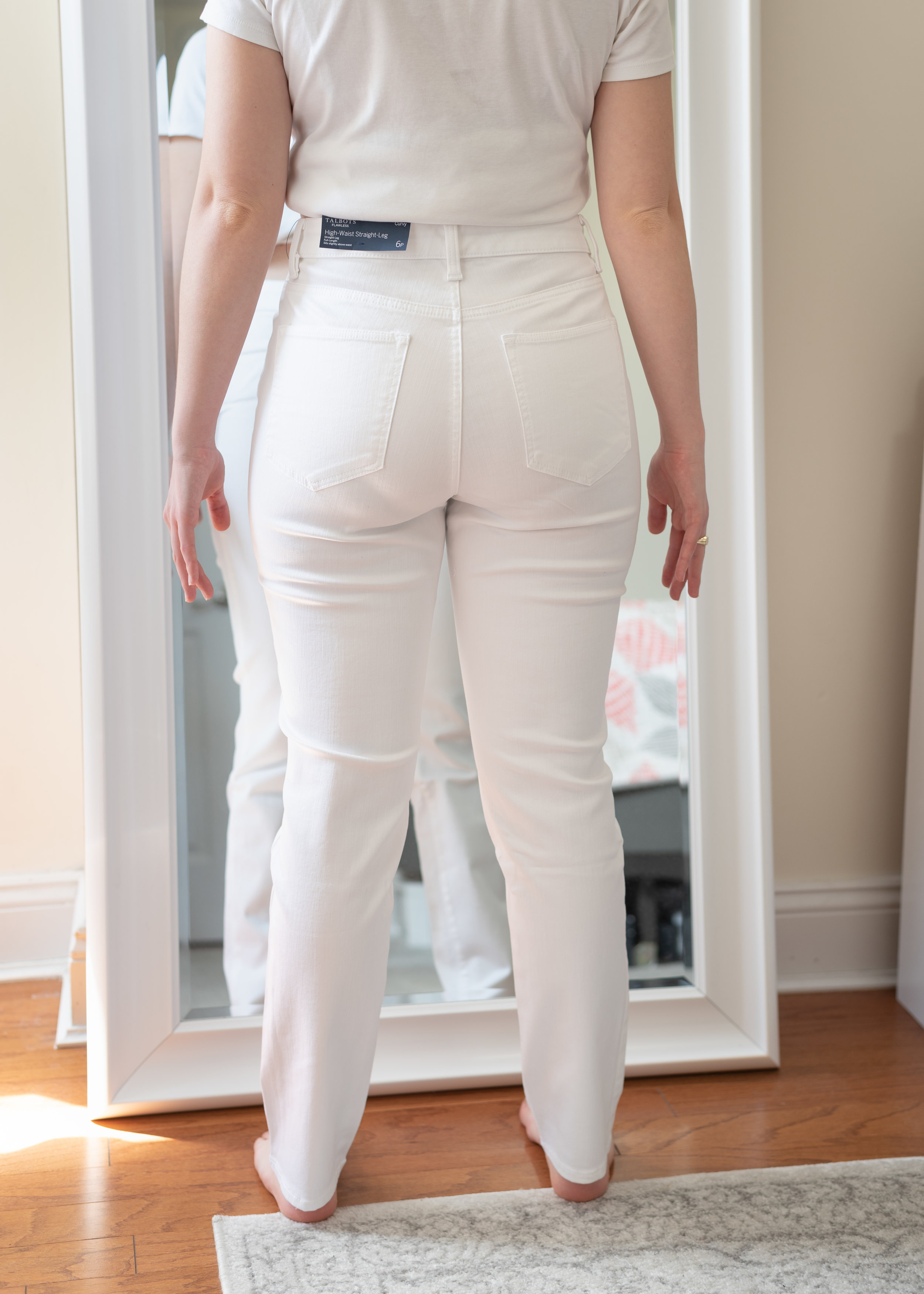 Talbots High-Waisted Curvy Fit Straight Leg Jeans - Size 6 Petite