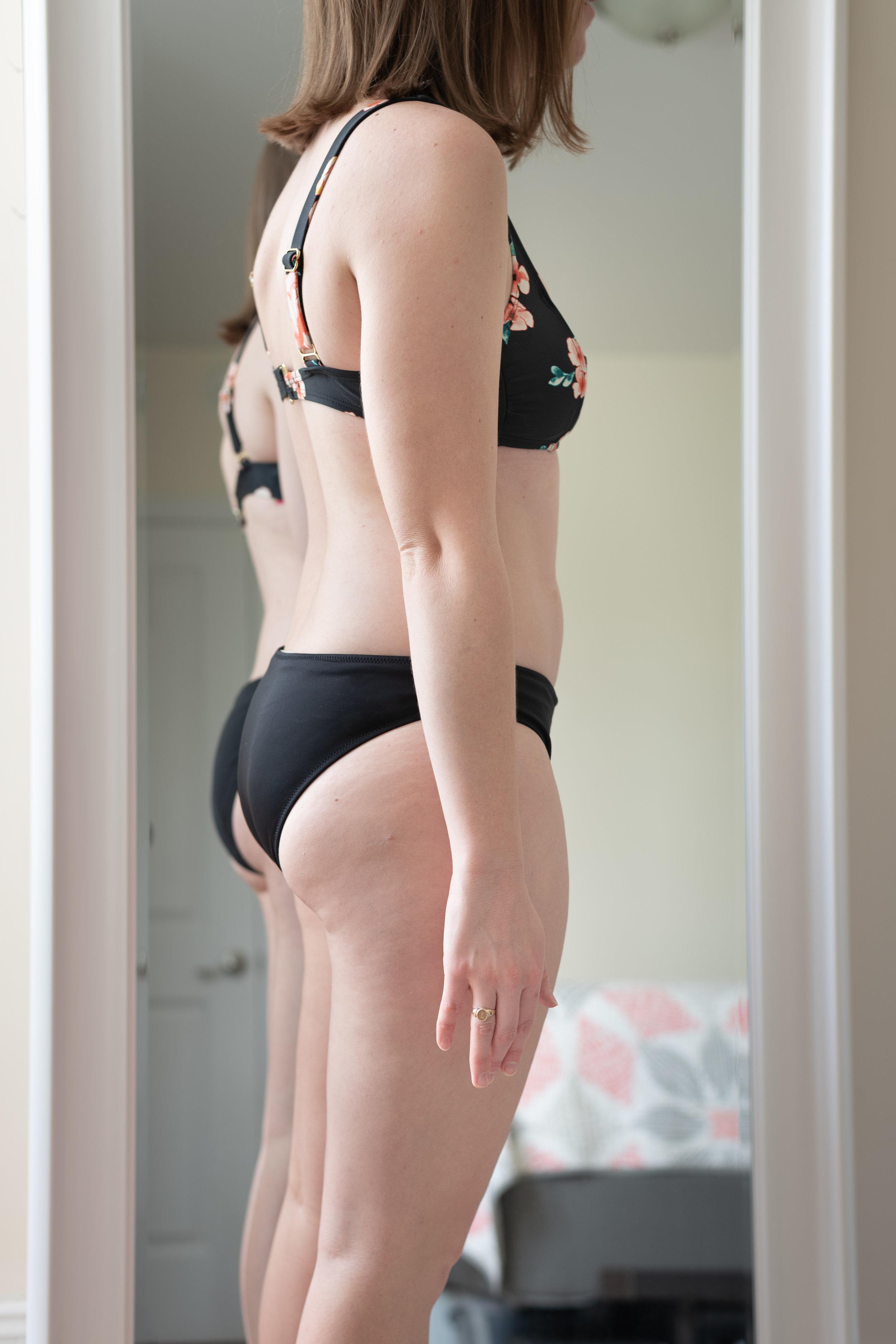 Xhilaration Square Neck Bralette Bikini Top and Shade & Shore Beach Hipster Bikini Bottom