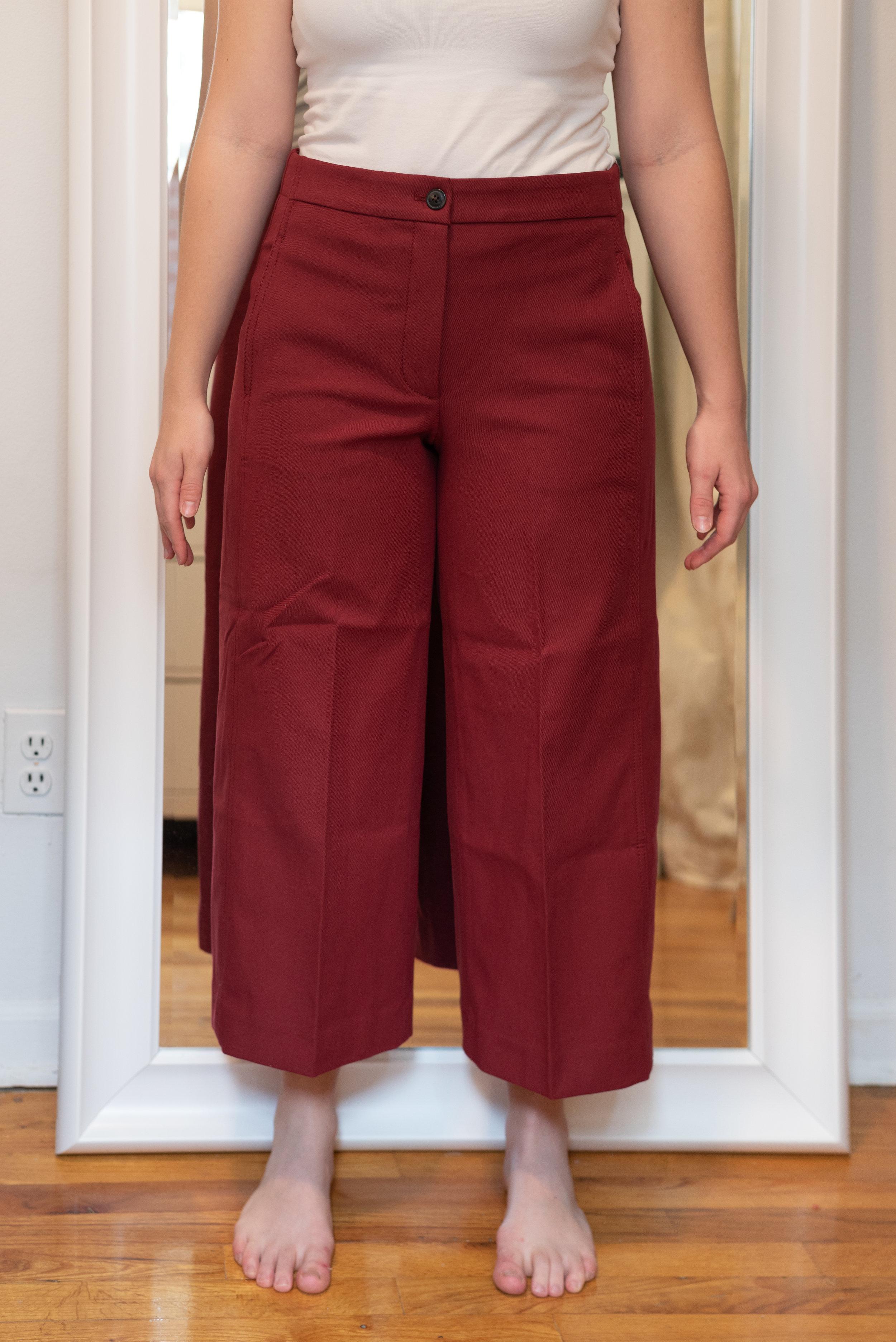 Ann Taylor Petite Marina Wide Leg Cropped Pant - Size 6 Petite