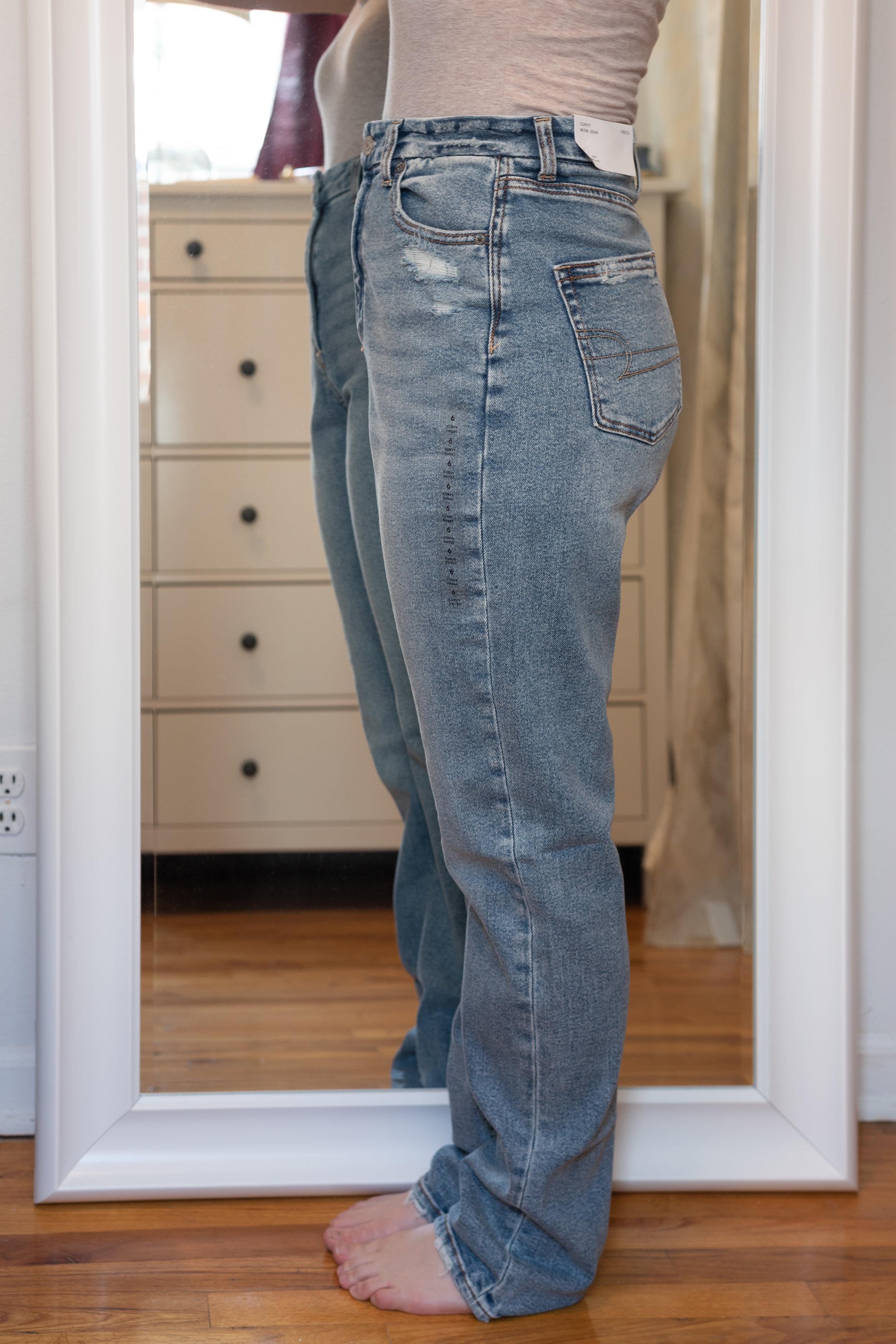 American Eagle Stretch Curvy Mom Jean - Size 6 Short