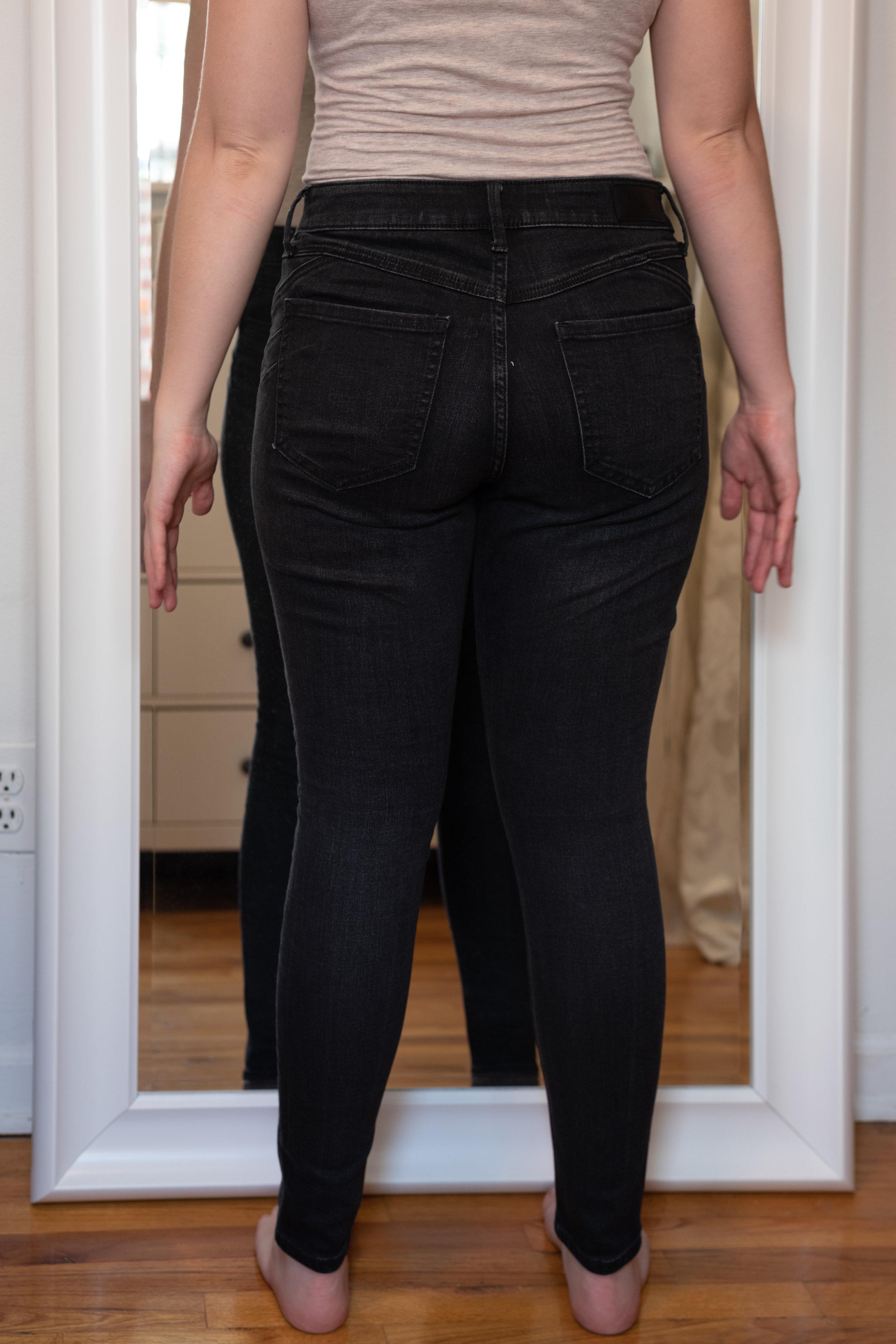 Express Mid Rise Denim Perfect Curves Jean Legging 6 Petite