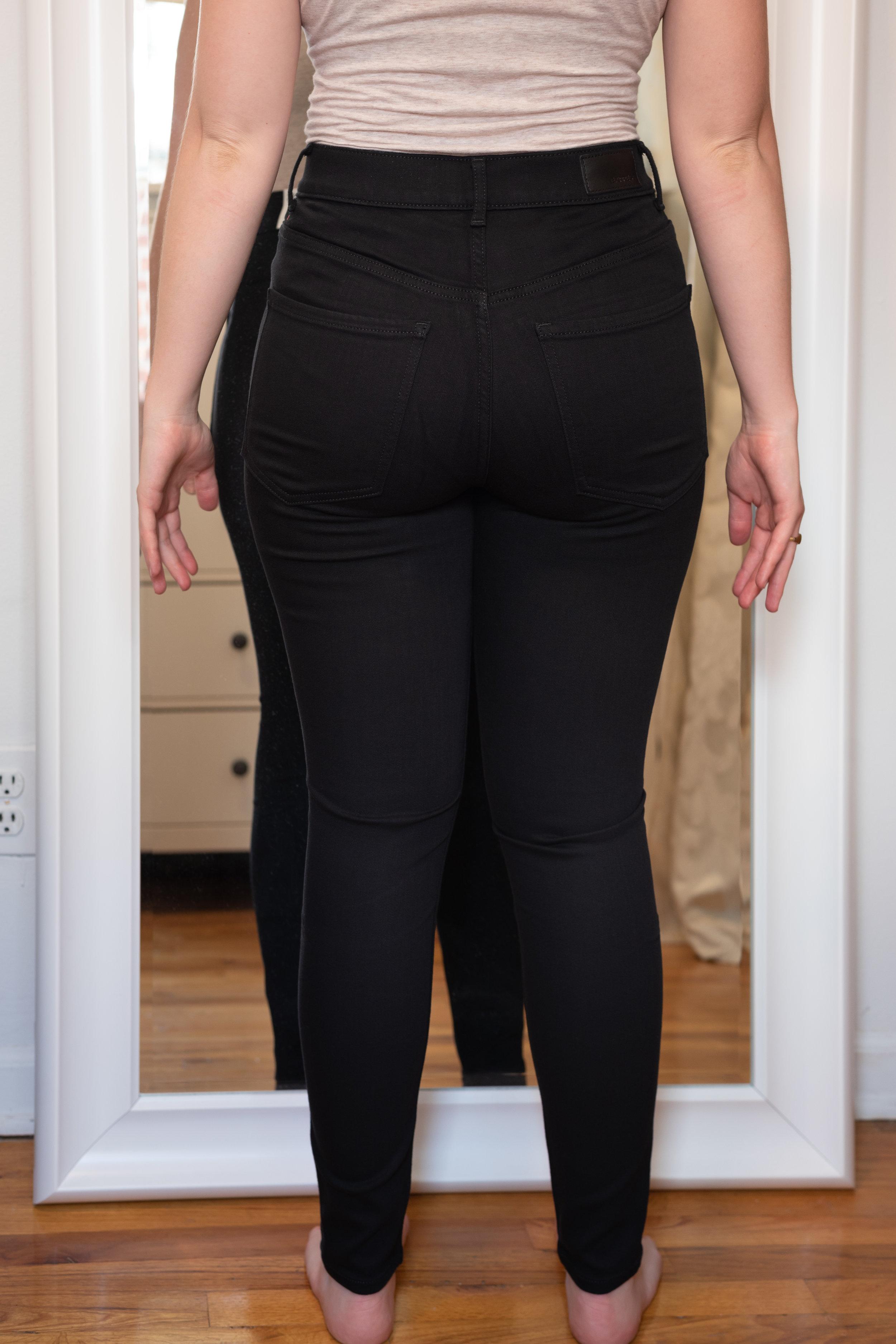 Express Super High Waisted Black Legging - Size 6 Short