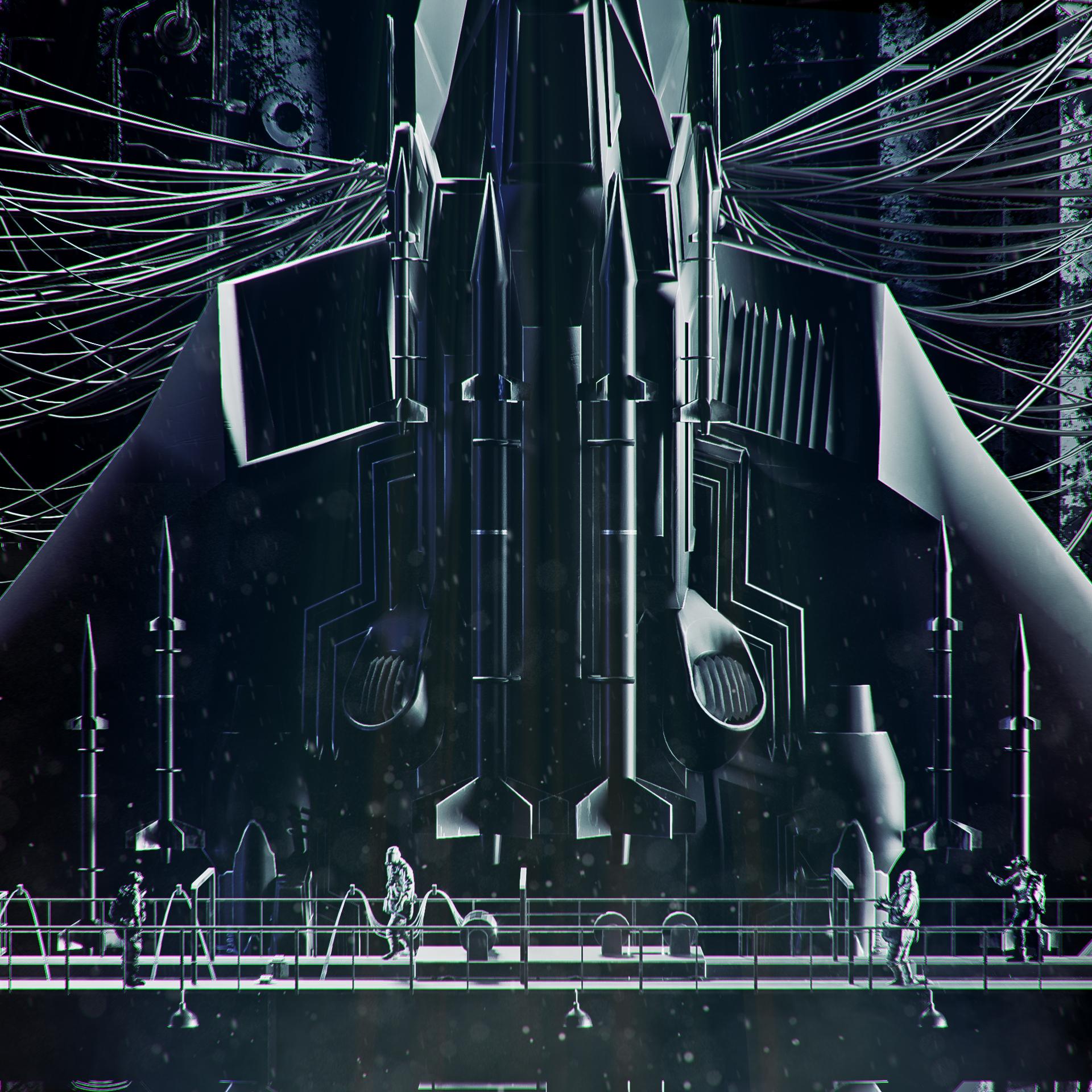 Space Hunter model by Hermino Nieves.