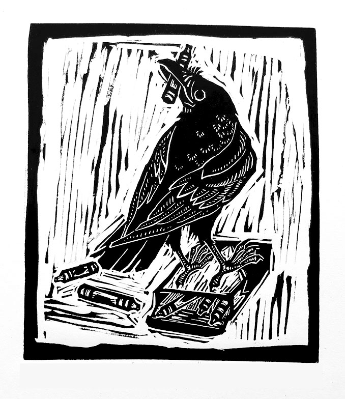 The Coloring Crow