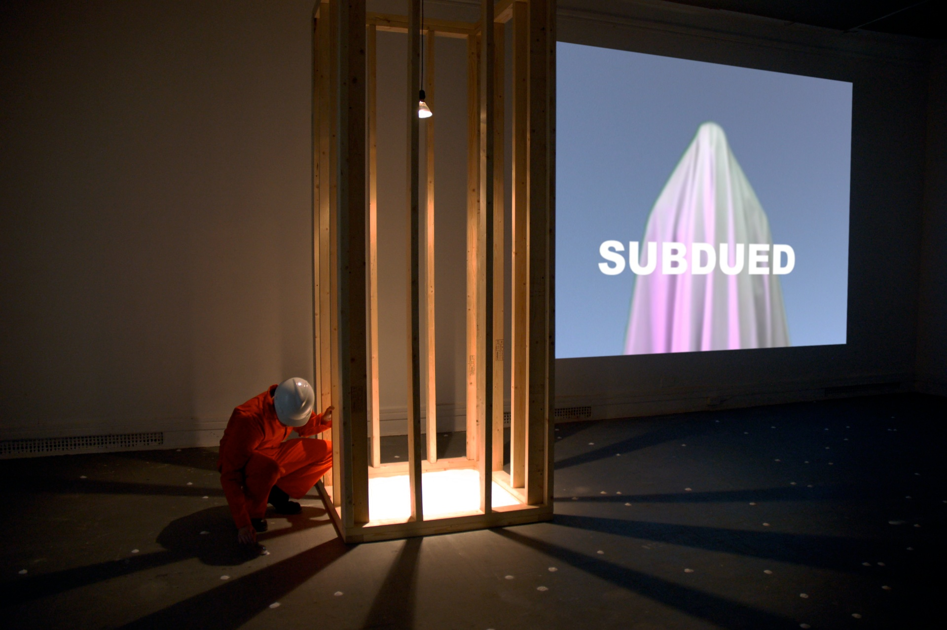Simultaneous Repellents (Repressed Sentient, Oppressed Séance)  , 2008 Video Installation with Performance Art