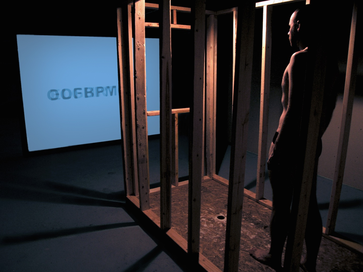 Methodological Remover / Orange Haunter , 2006  Video Installation with Performance Art
