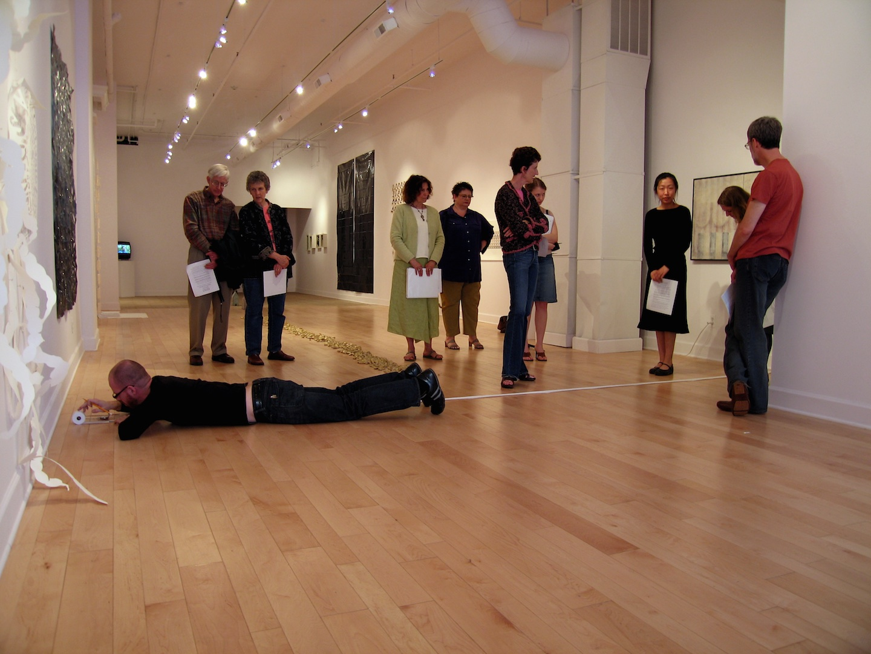 Slow Measured Crawl II , 2006    Performance Art