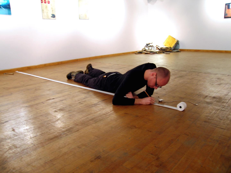 Slow Measured Crawl I , 2005  Performance Art