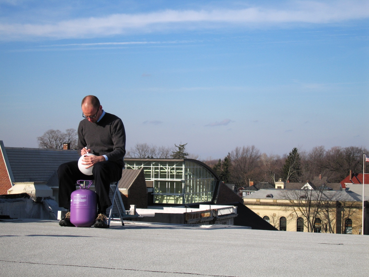 Studio Roof Transmitter,  2004  Performance Art