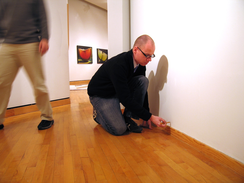 1:1 Floor Plan Drawing #1 , 2004  Performance Art