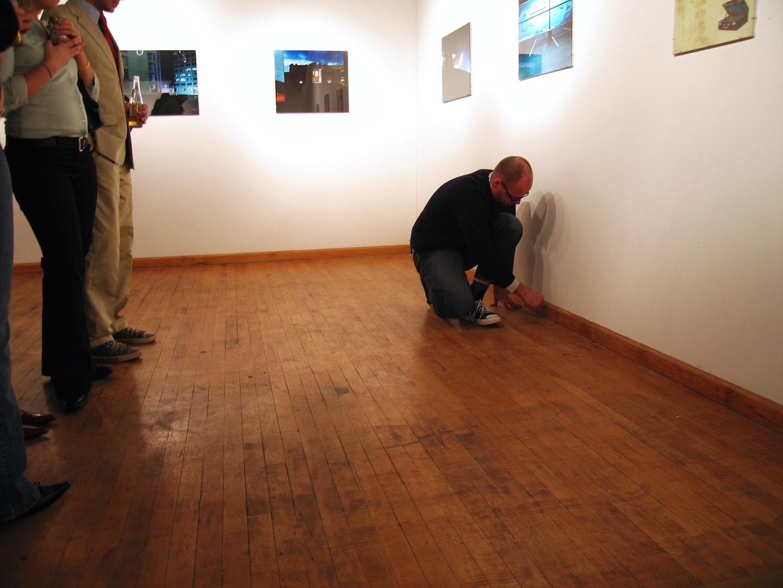 1:1 Floor Plan Drawing #2 , 2005  Performance Art