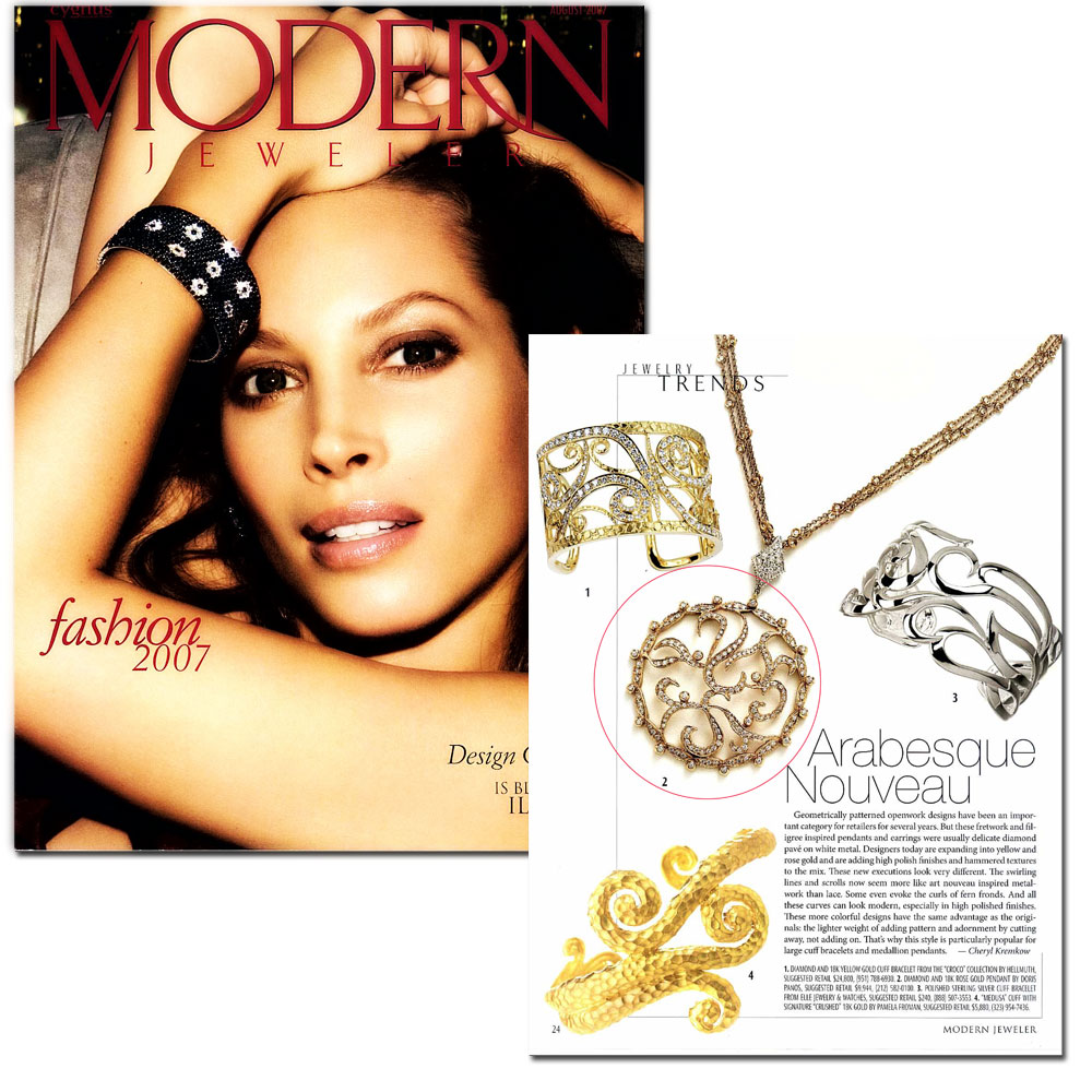 Editorial of our 18K Couture Amore Pendant.