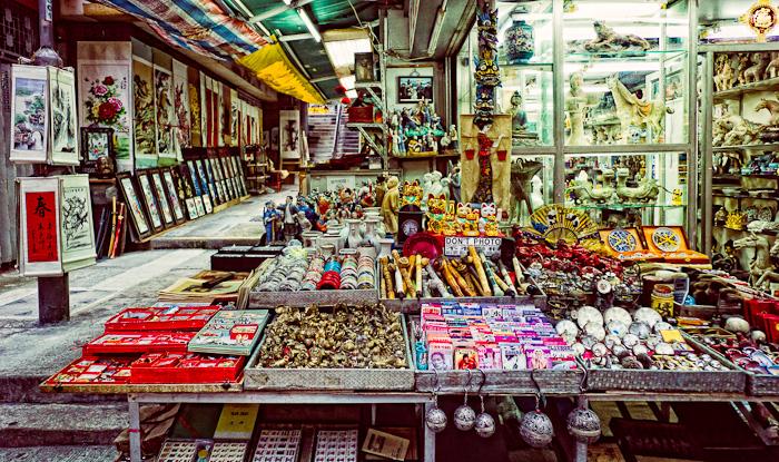 Cat Street market stall advertising 'NO PHOTOS'