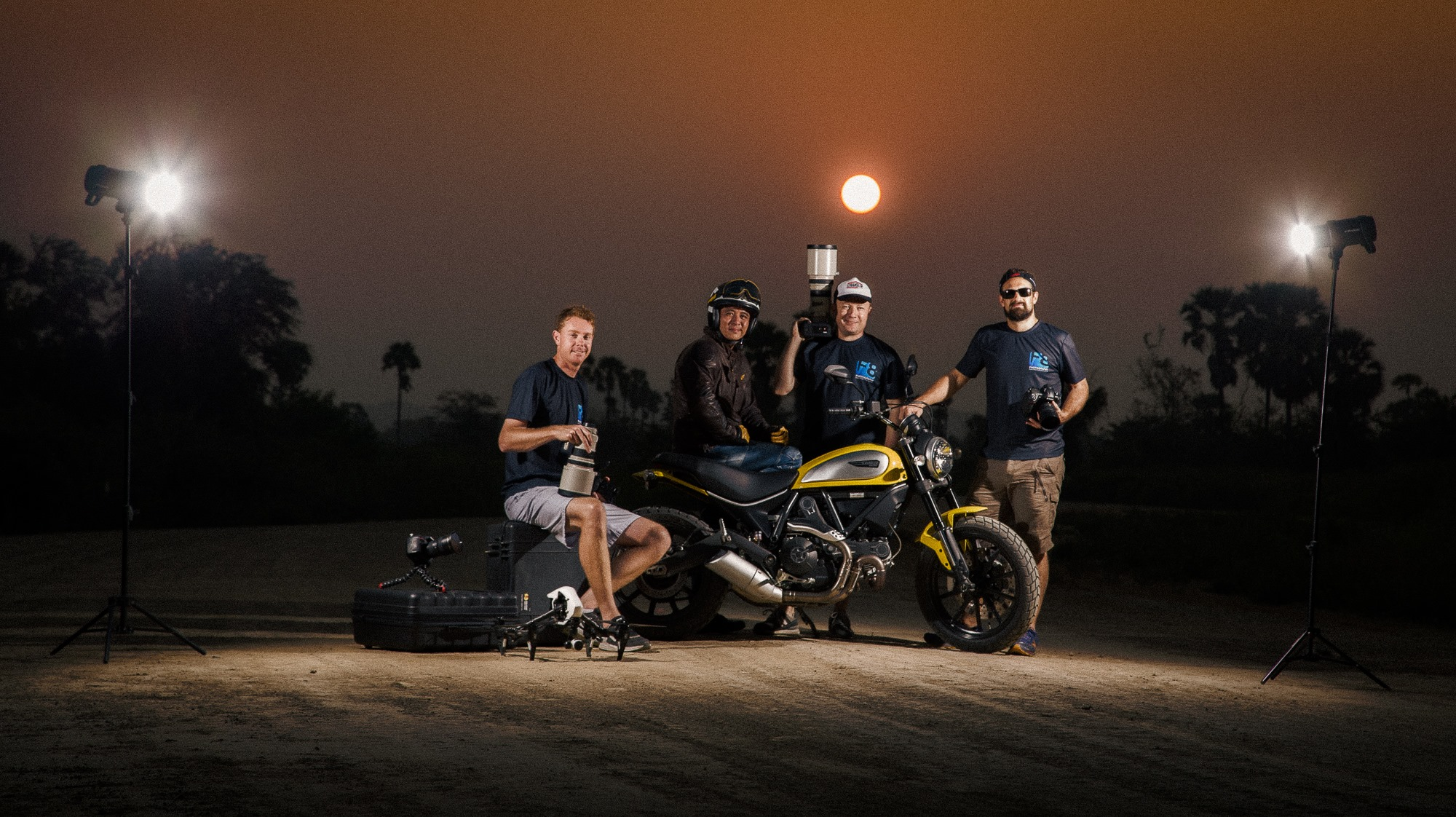 Team F8, 2015 at Ducati Scrambler launch.