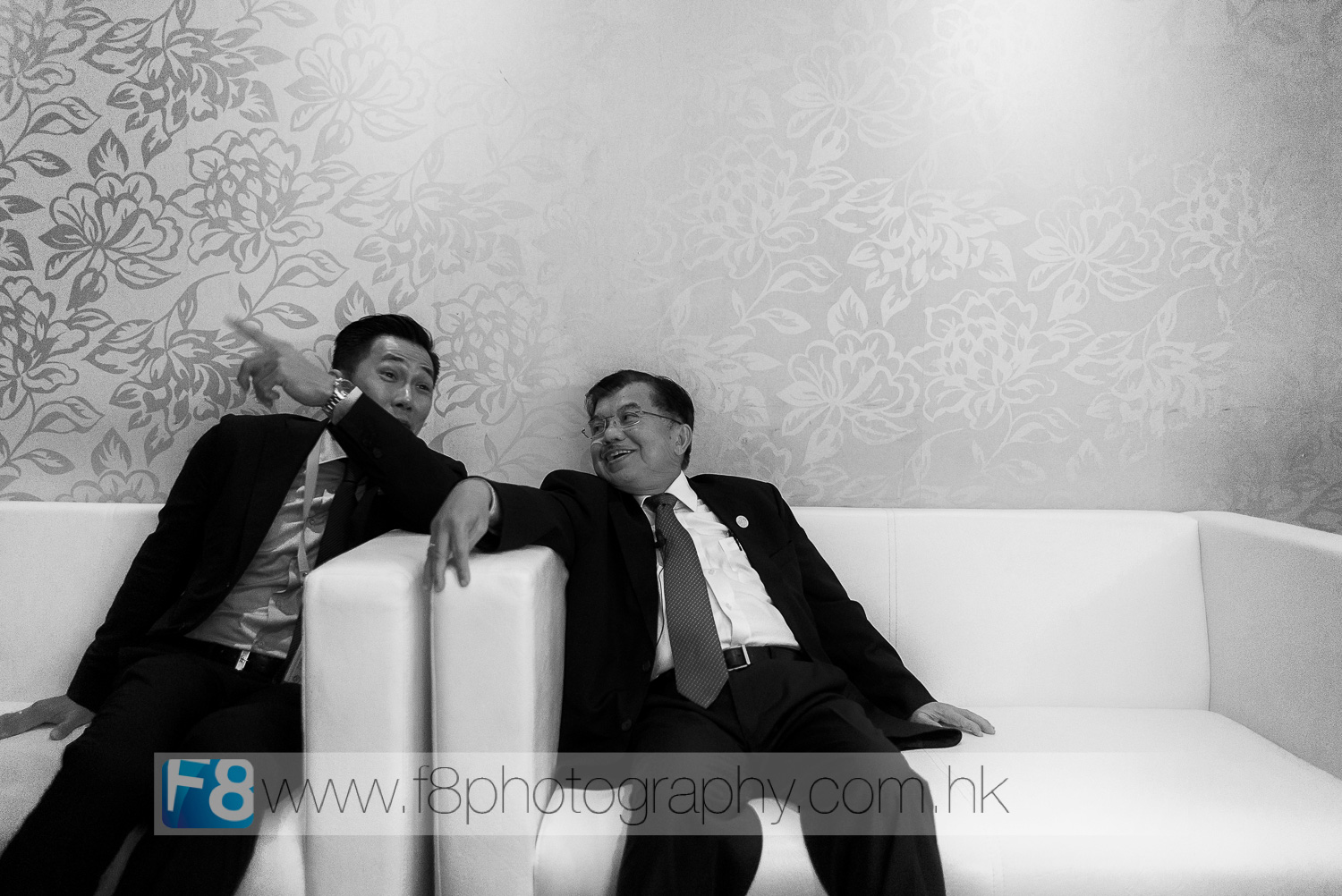 Indonesian Vice President Jusuf Kalla - relaxing in the green room before taking the stage.