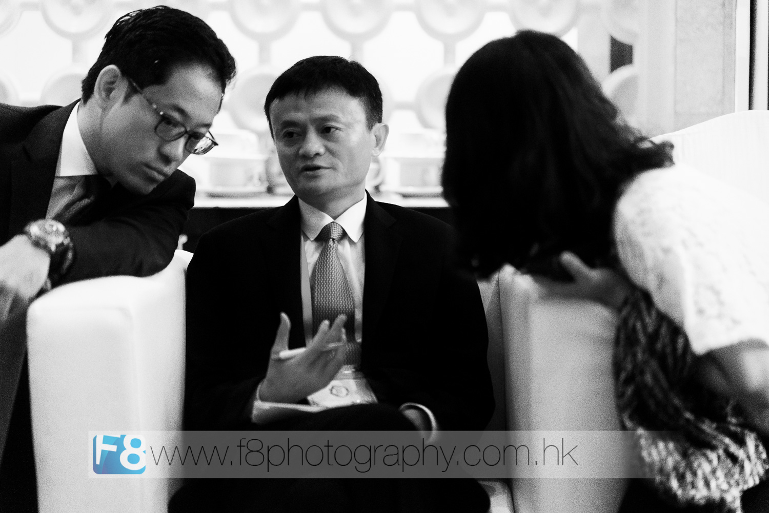 jack ma, founder of alibaba.com and the richest man in china preparing to take the stage with the president of the united states.