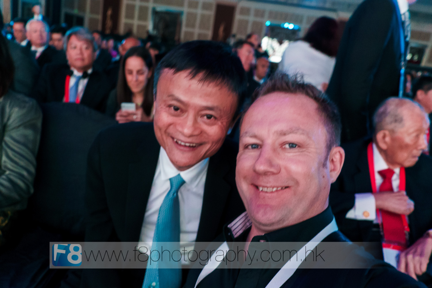 shameless selfie of myself with jack ma on the front row of apec 2015....out of focus, but still worth it...lol.