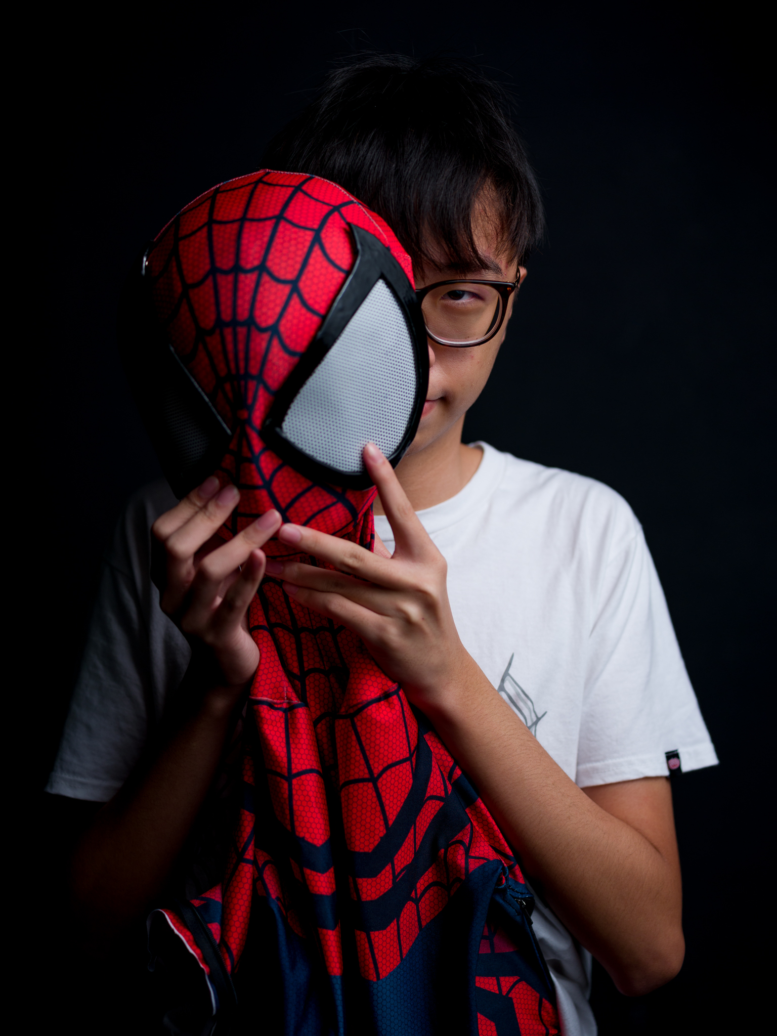 'Peter Parker mode' - before the transformation.