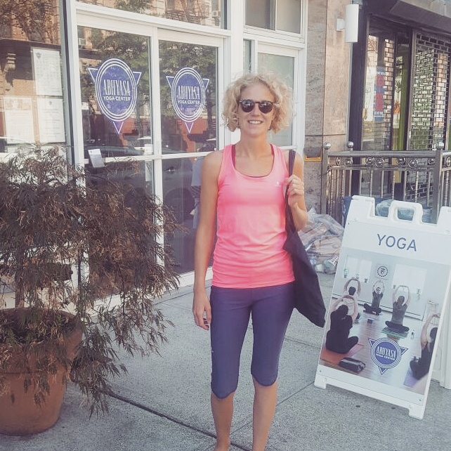 At the Abhyasa Yoga Centre, Brooklyn, NYC after one of J.Brown's classes.