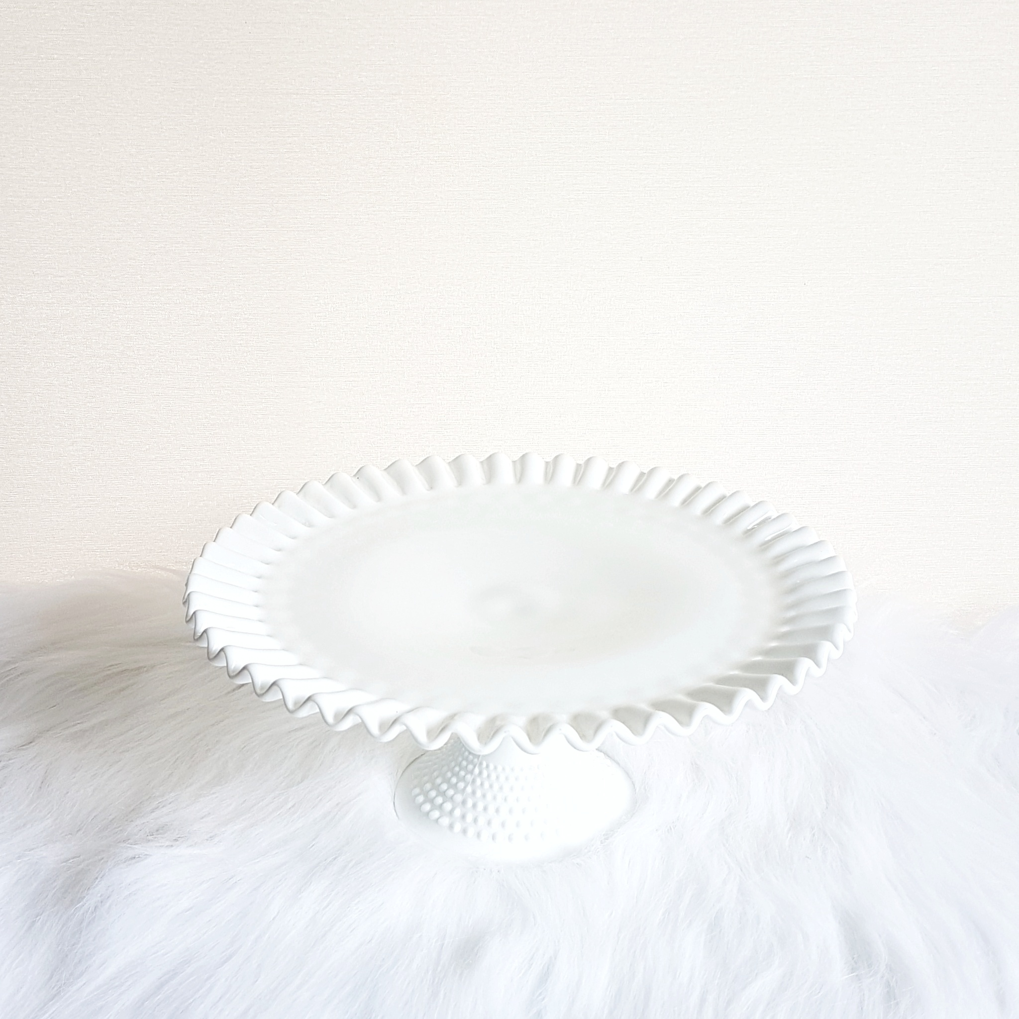 Ruffled Hobnail Cake Stand  $20
