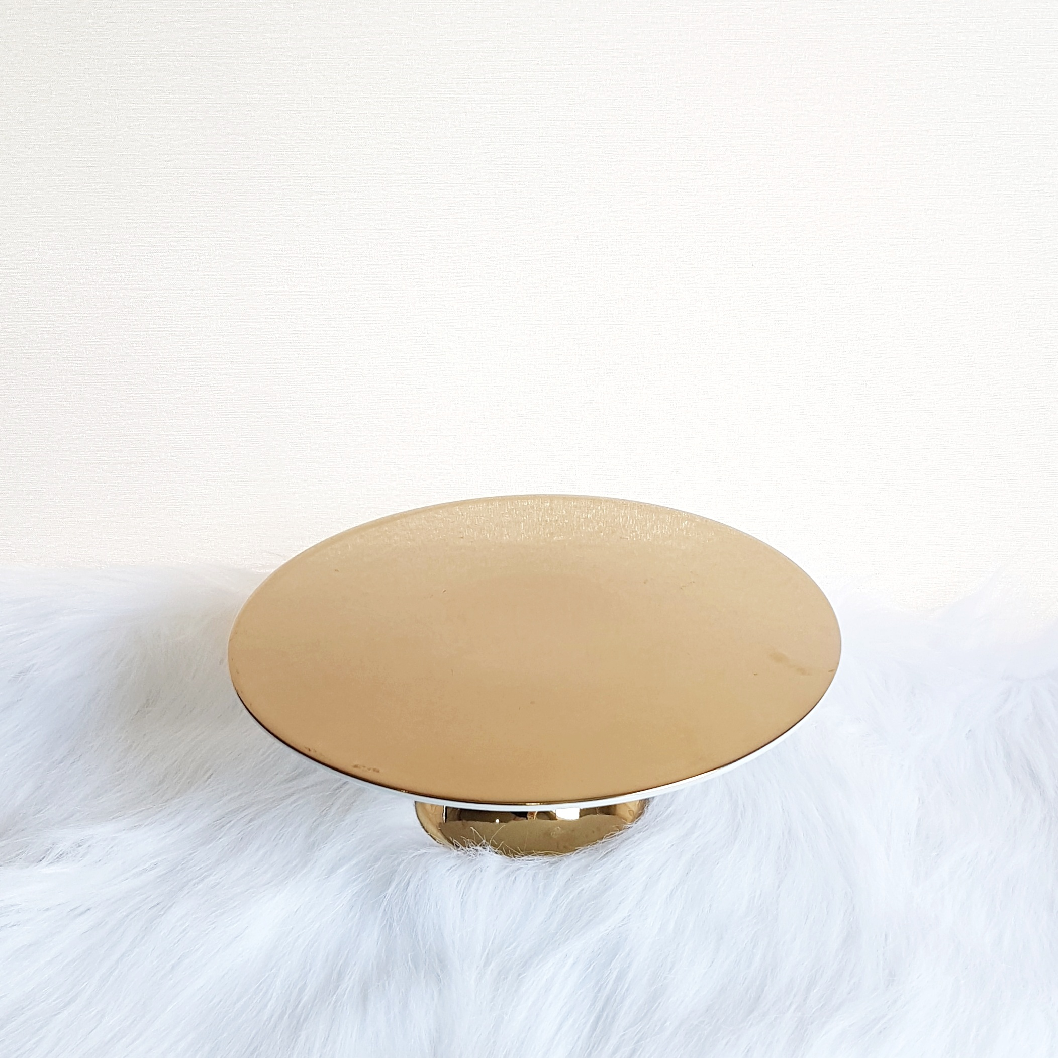 "Gold Cake Stand 11"" - 2 available  $10"