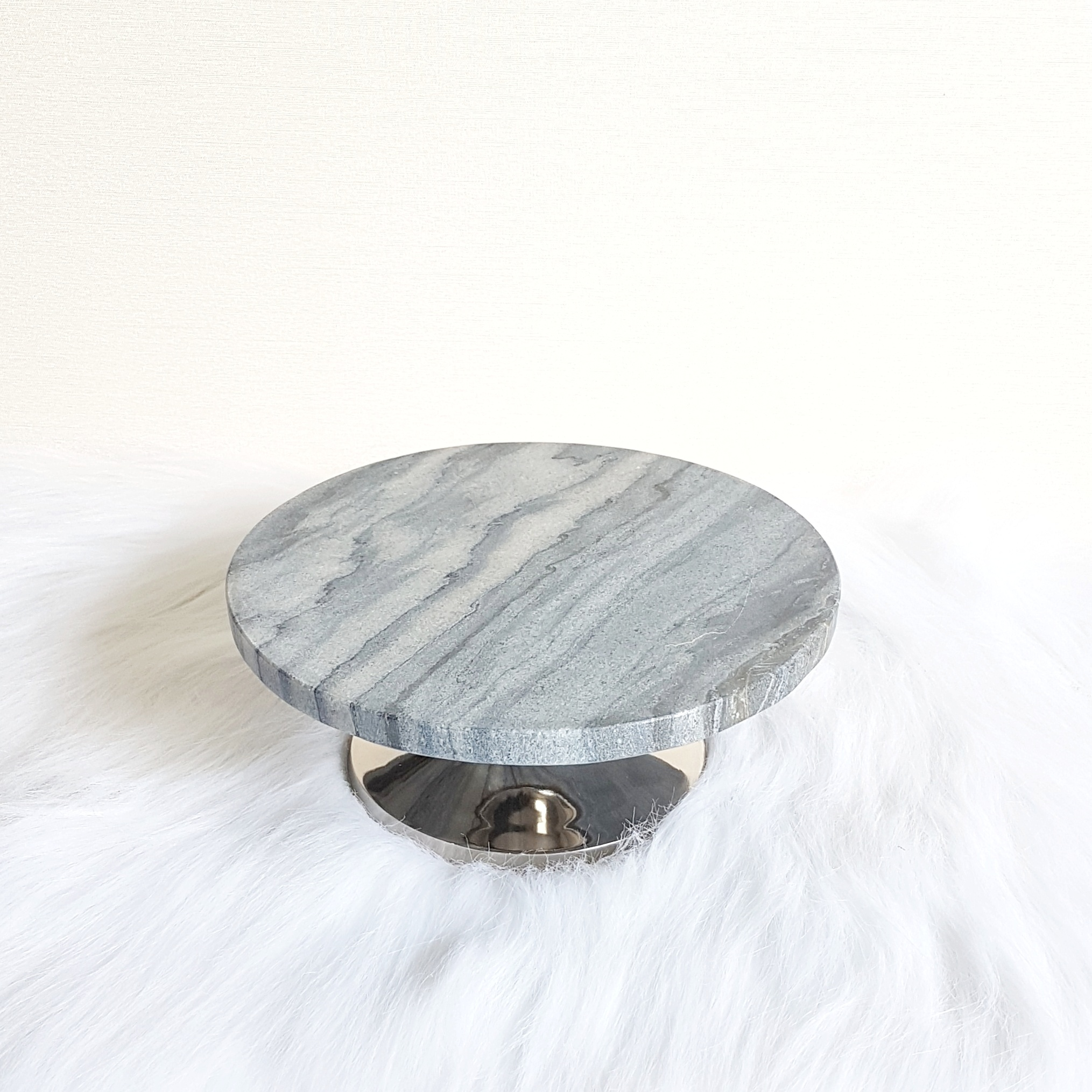 "Grey Marble Stand 8""  $12"