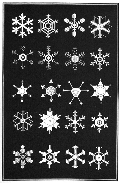 Printed in 1963, Snow Flakes: A Chapter from the Book of Nature is a beautiful ode to the endless geometry of the snowflake.
