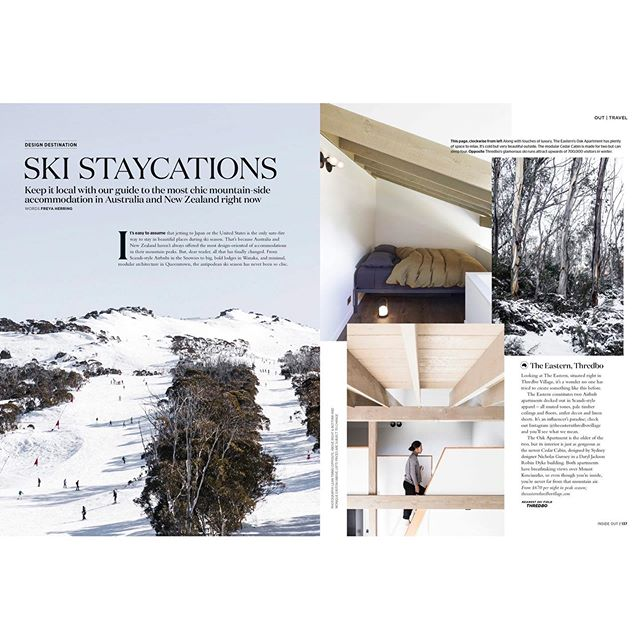 Ski Staycation? I'm all in!  We're pretty excited to be in this months @insideoutmag featured in their Ski Staycations section. Check it out here! ✨