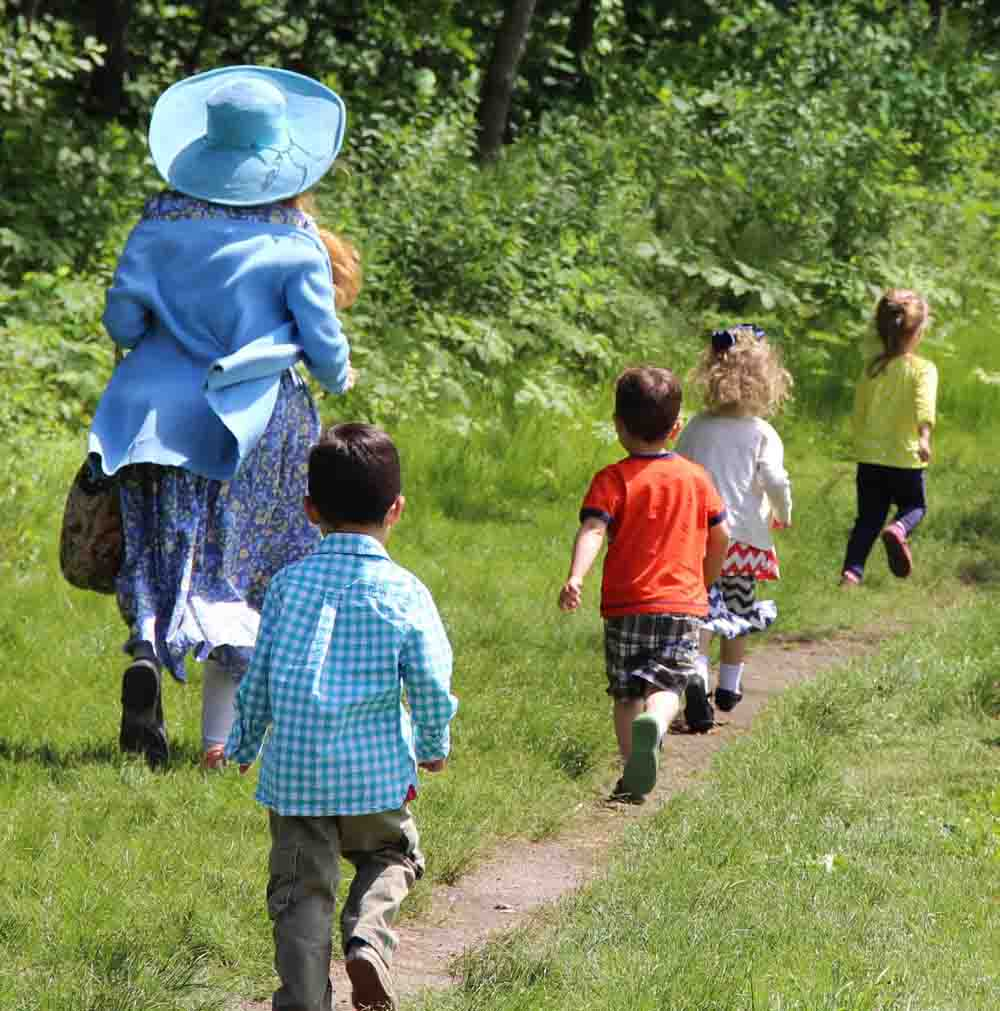 In our early childhood programs, running through the Great Meadows is a favorite activity.