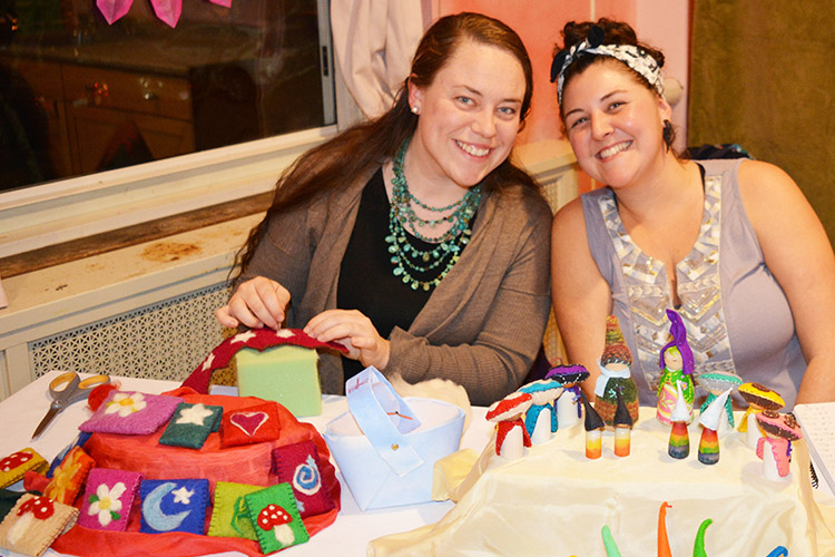 The PCA Community Room offered a beautiful array of homemade crafts.