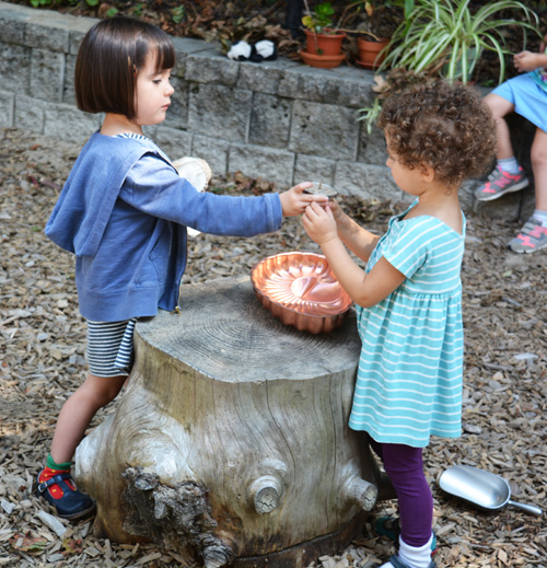 Nursery students at WSL enjoy outdoor time, whether it's exploring the nearby pond and conservation land or developing new friendships in our play yards.
