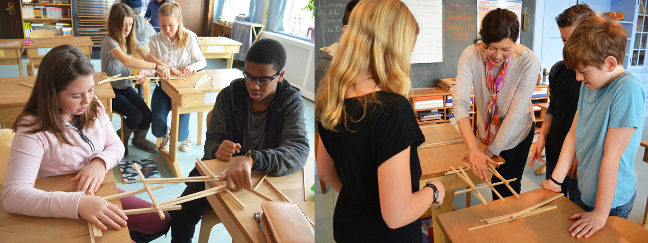 In a 7th grade science class, students try to solve the engineering challenges of building a bridge. This STEM activity is collaborative, hands-on, thought-provoking, and yes, fun!
