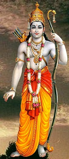 The Hindu god Rama as imagined by an artist