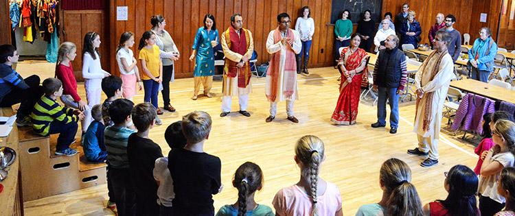 Shivalik Bakshi, Grade 5 parent, explaining the significance of Diwali