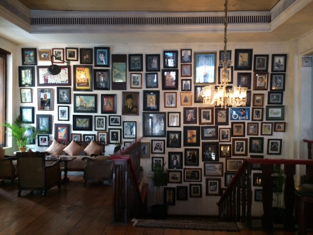 Cafe Batavia - wall display by the staircase