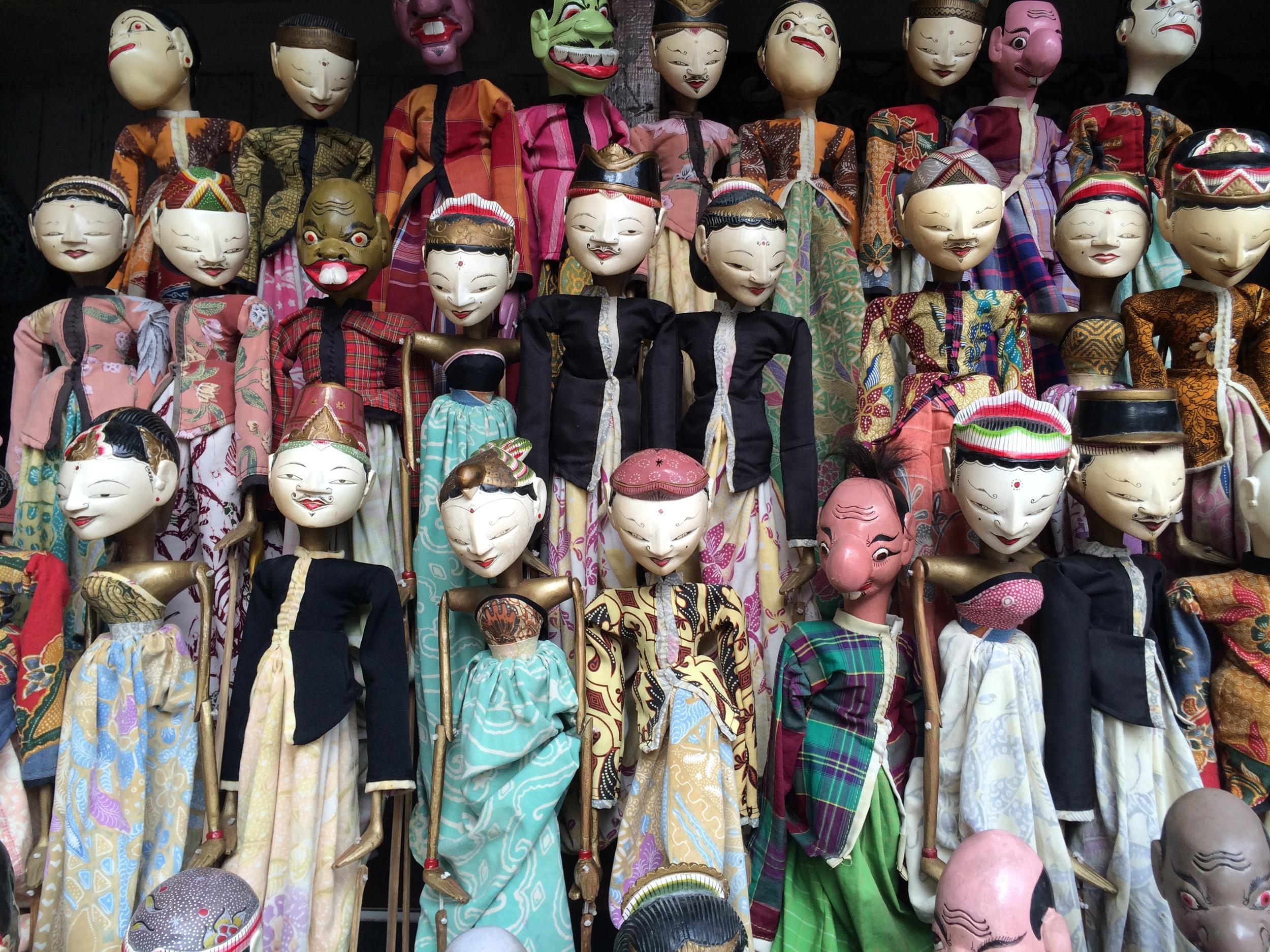 Jalan Surabaya Jakarta Antique Market Puppets