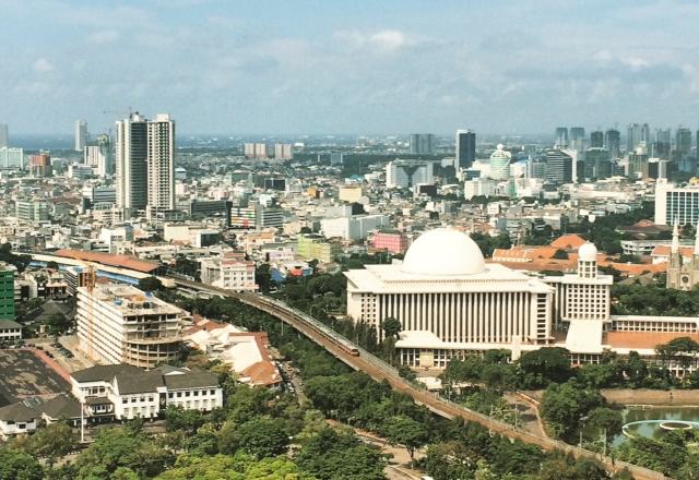 Jakarta as seen from top of Monas